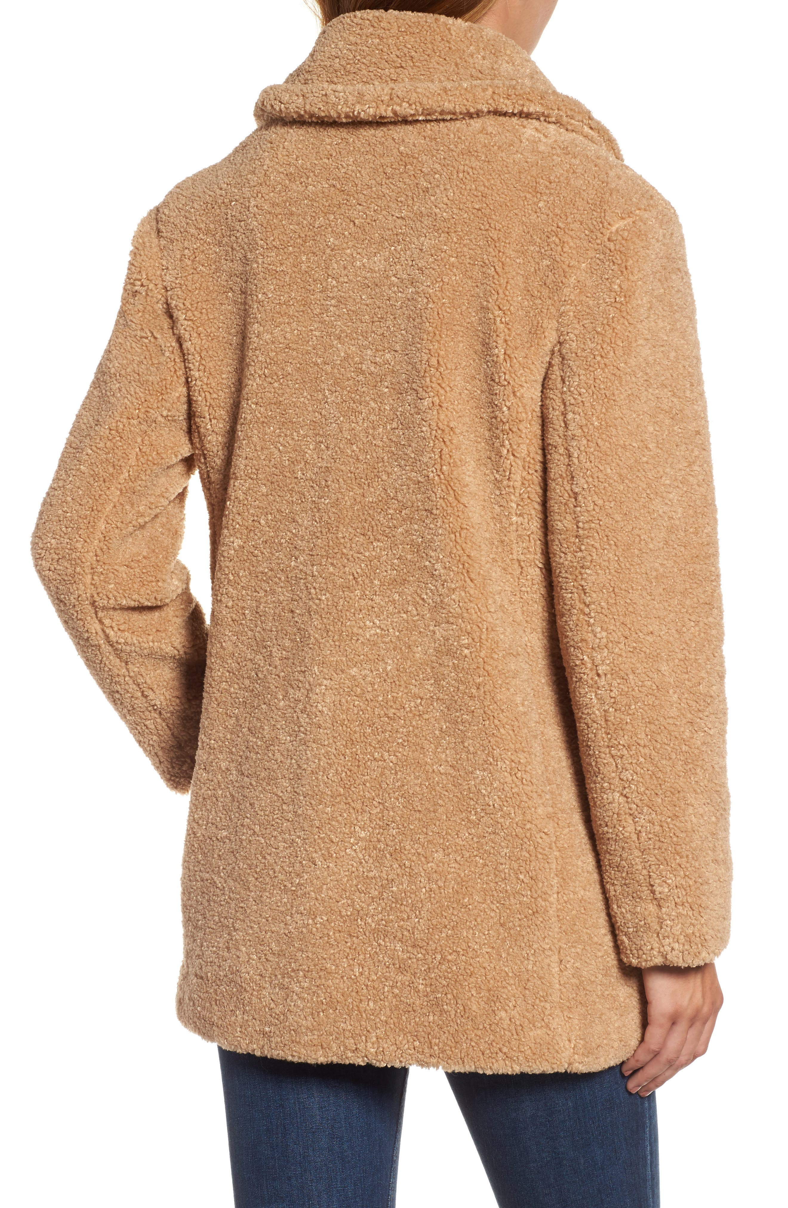 Alternate Image 3  - kensie Teddy Bear Notch Collar Faux Fur Coat