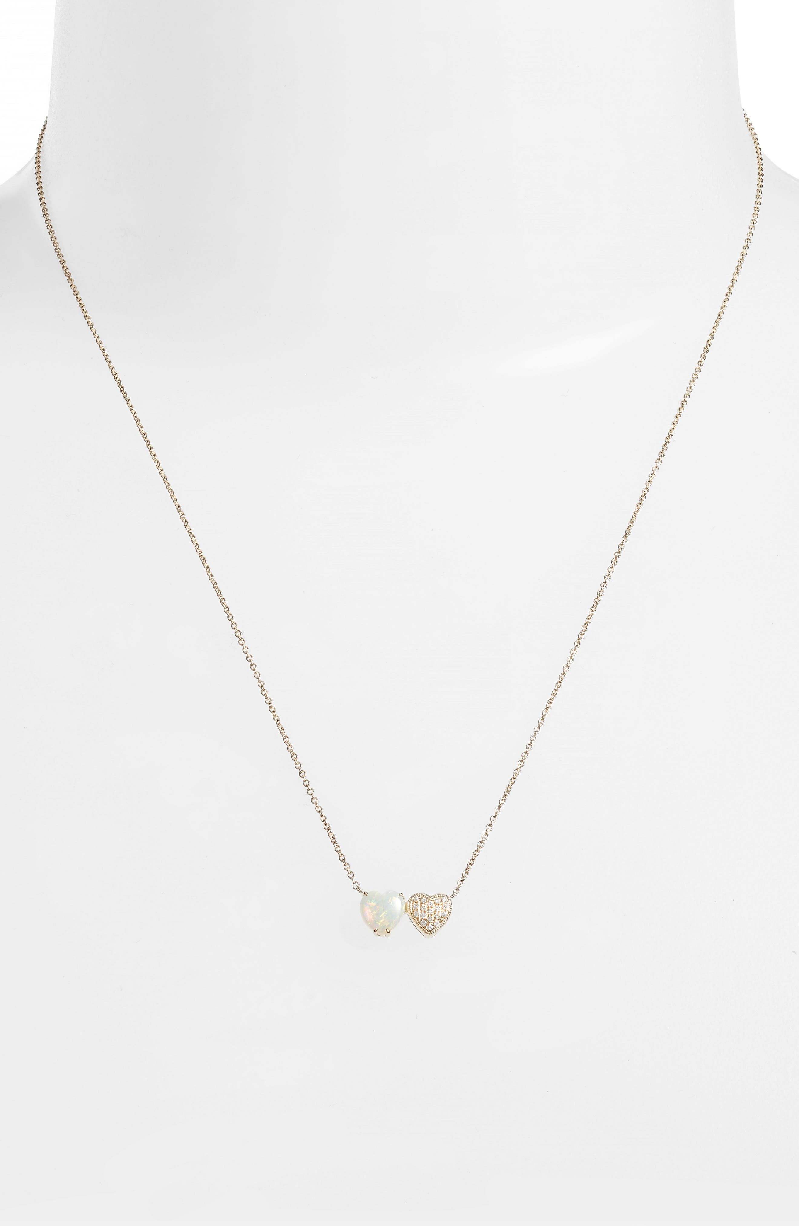 Semiprecious Stone & Diamond Pendant Necklace,                         Main,                         color, Yellow Gold