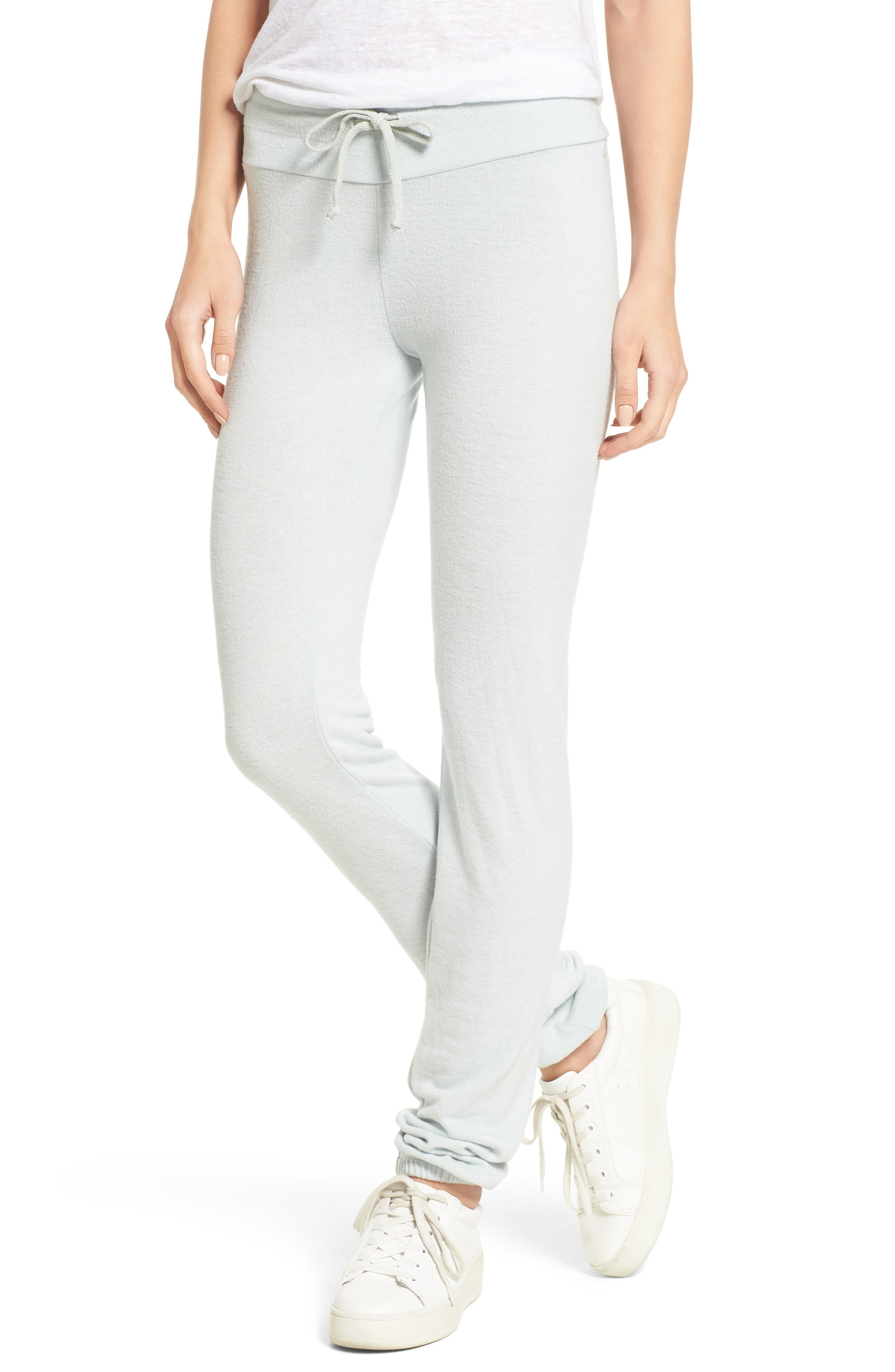 Skinny Track Pants,                         Main,                         color, Sky