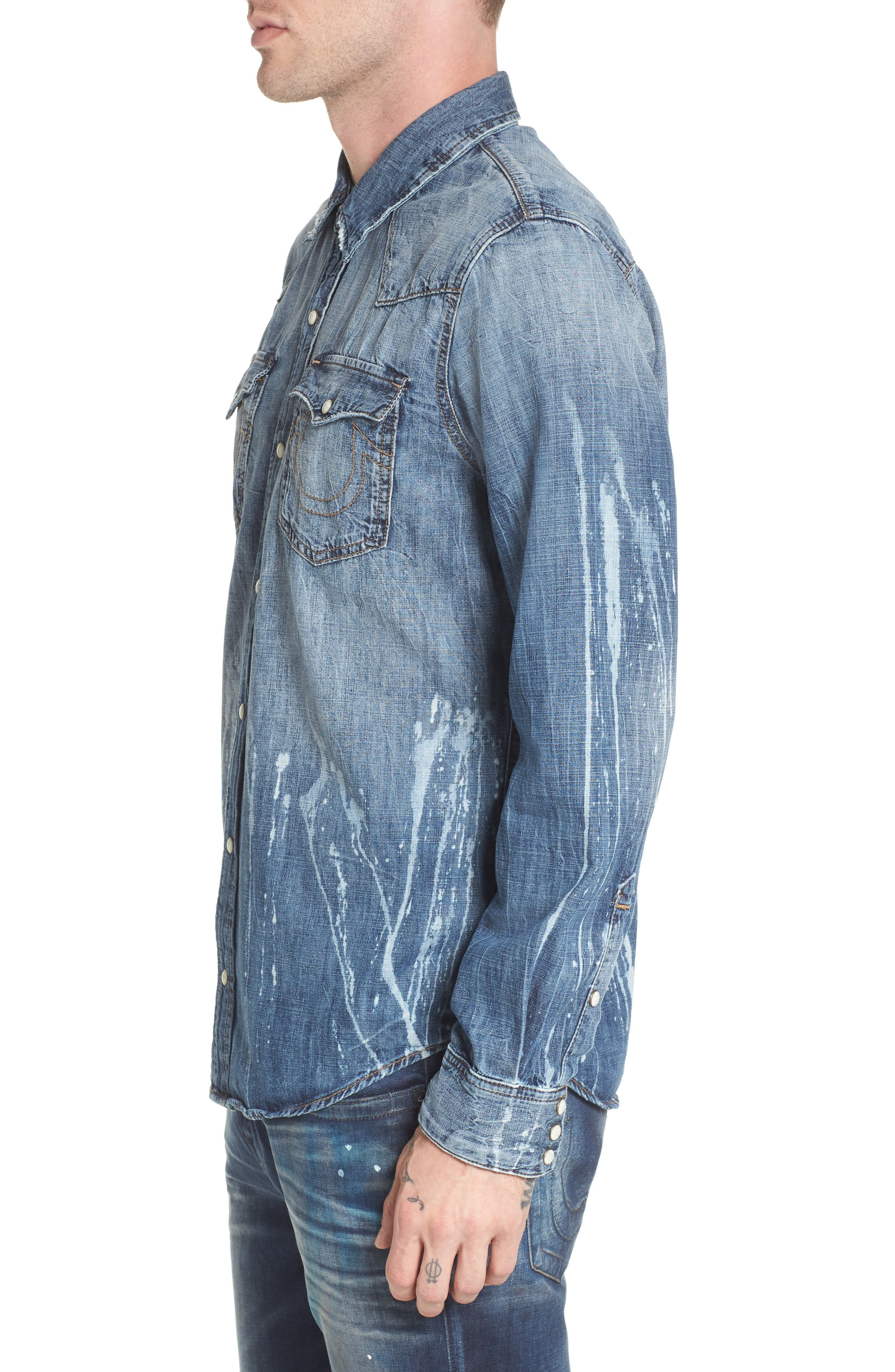 Alternate Image 3  - True Religion Brand Jeans Ryan Runyon Rebel Long Sleeve Western Shirt