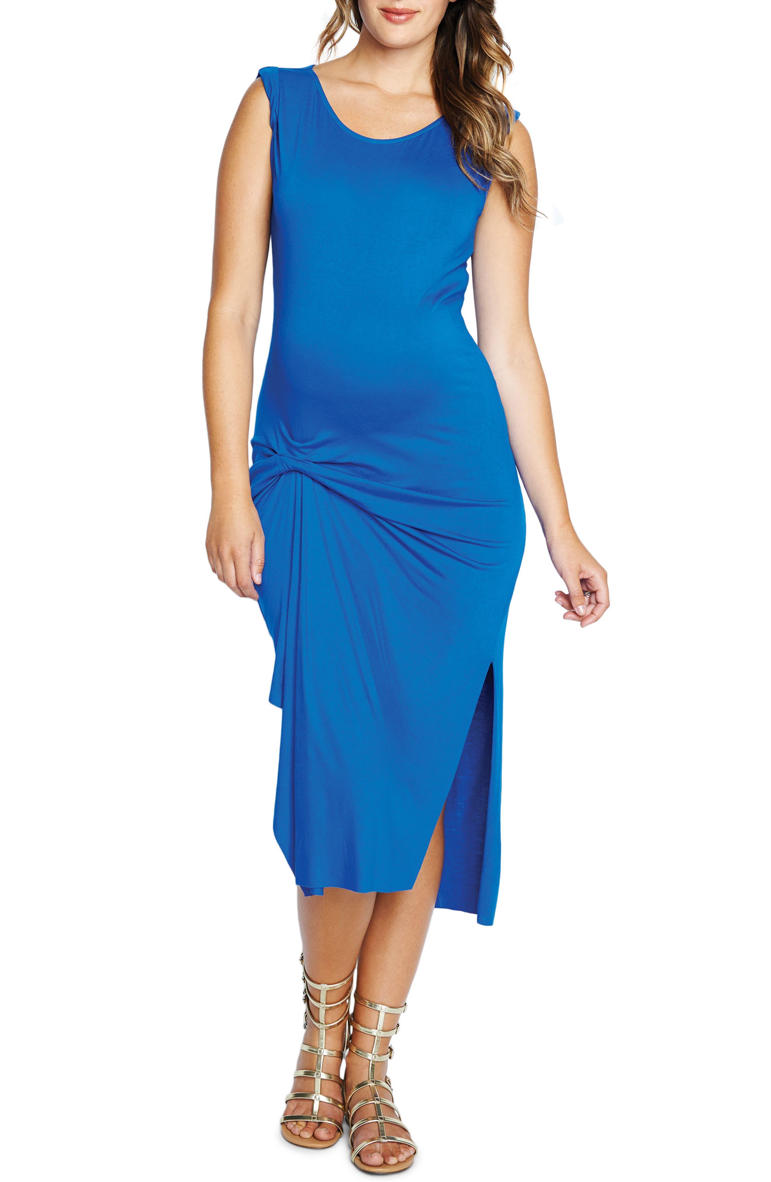 Main Image - Maternal America Pleated Maternity Dress