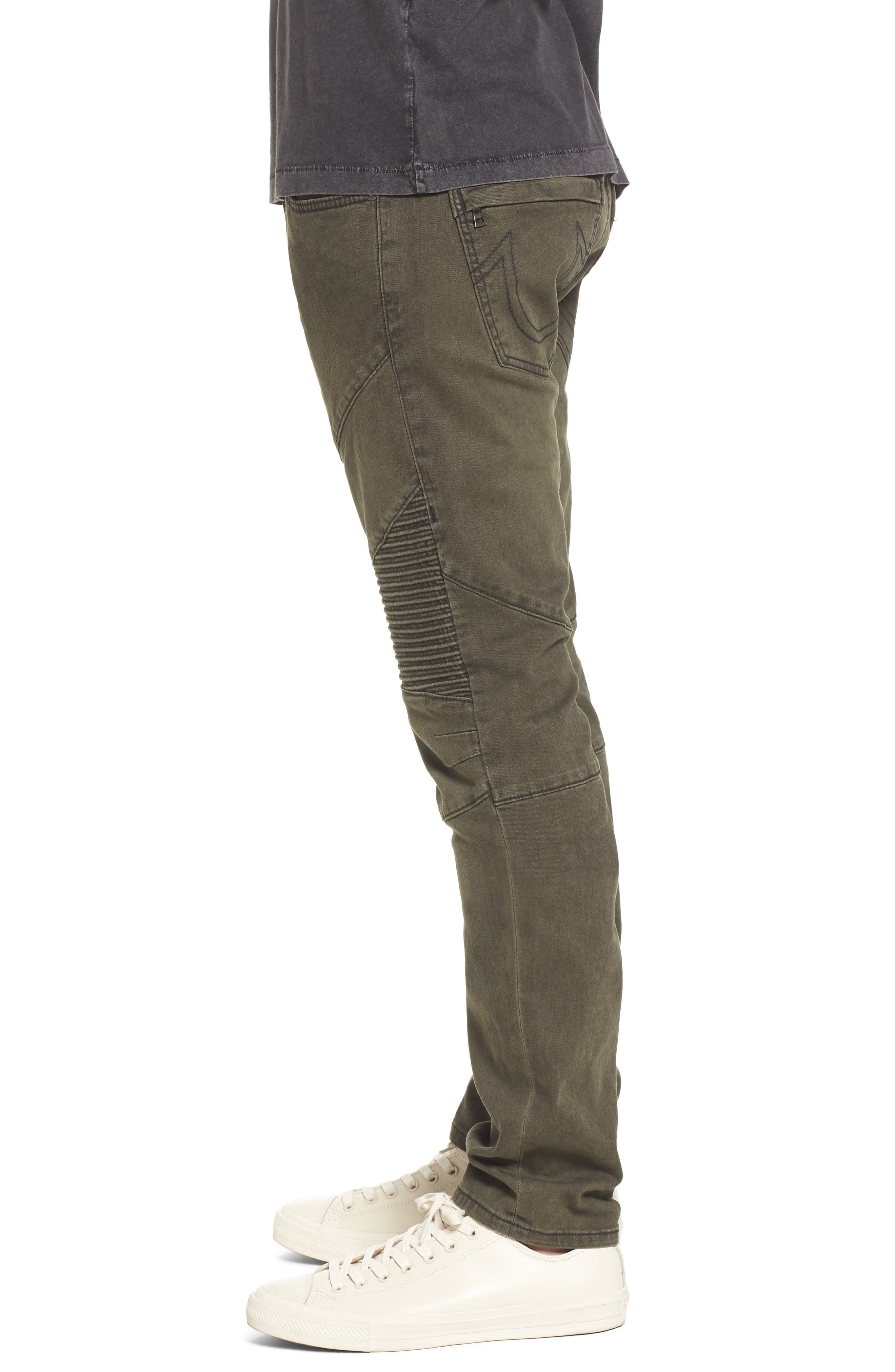 Alternate Image 3  - True Religion Brand Jeans Rocco Skinny Fit Jeans (Olive Coated)