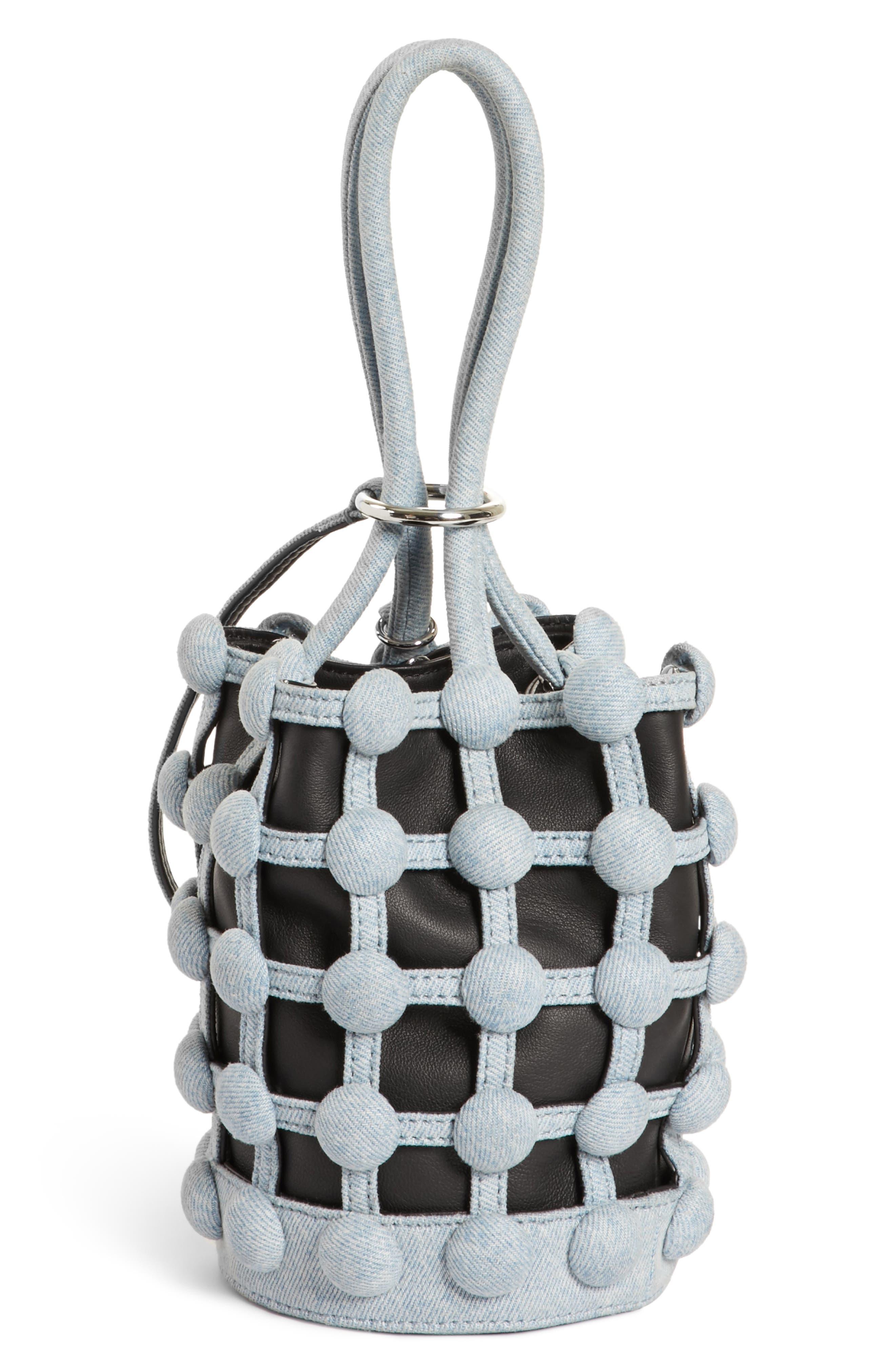 Alternate Image 3  - Alexander Wang Mini Roxy Denim Cage Leather Bucket Bag