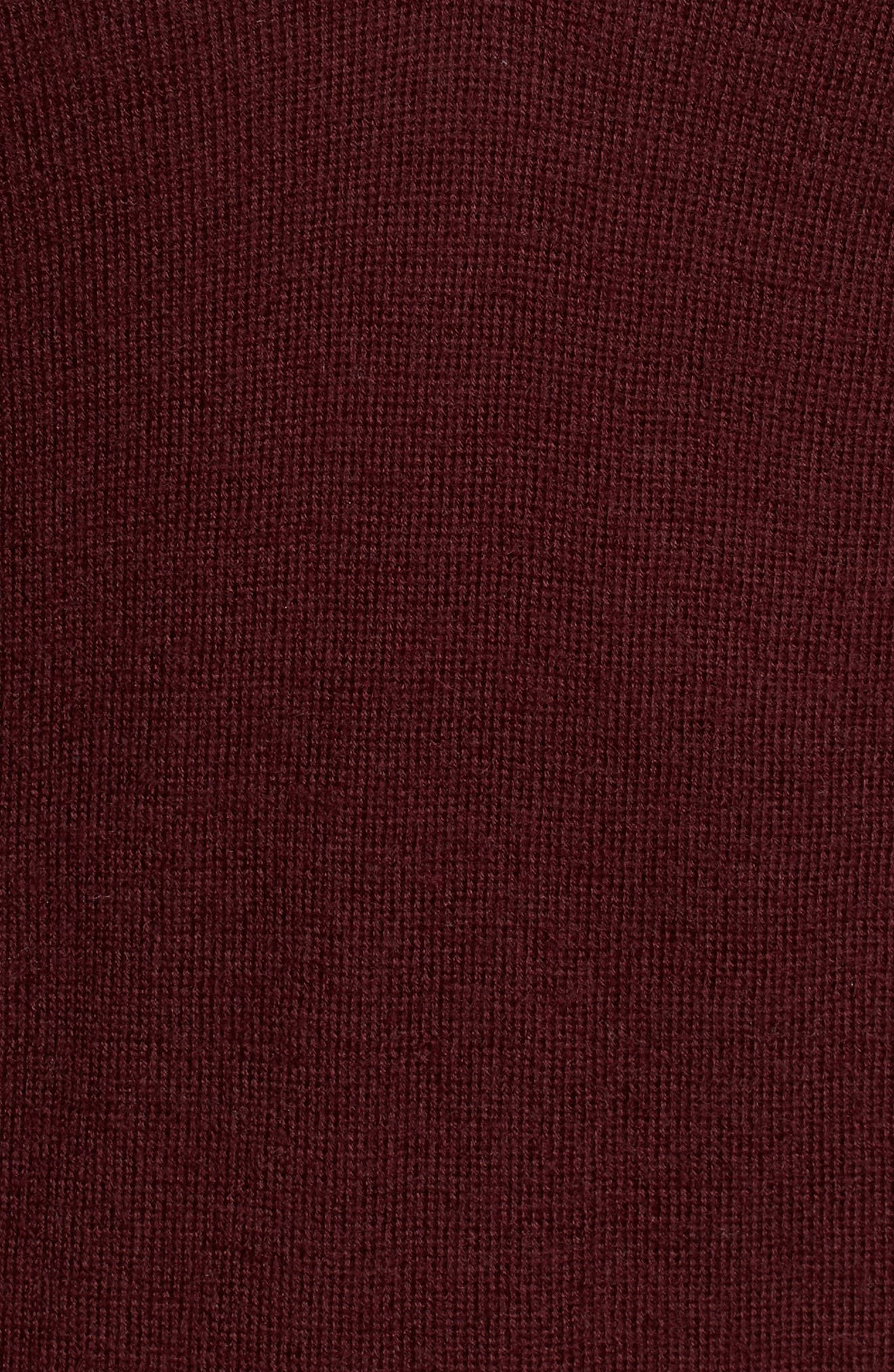 Uma V-Neck Cashmere Sweater,                             Alternate thumbnail 5, color,                             Deep Currant