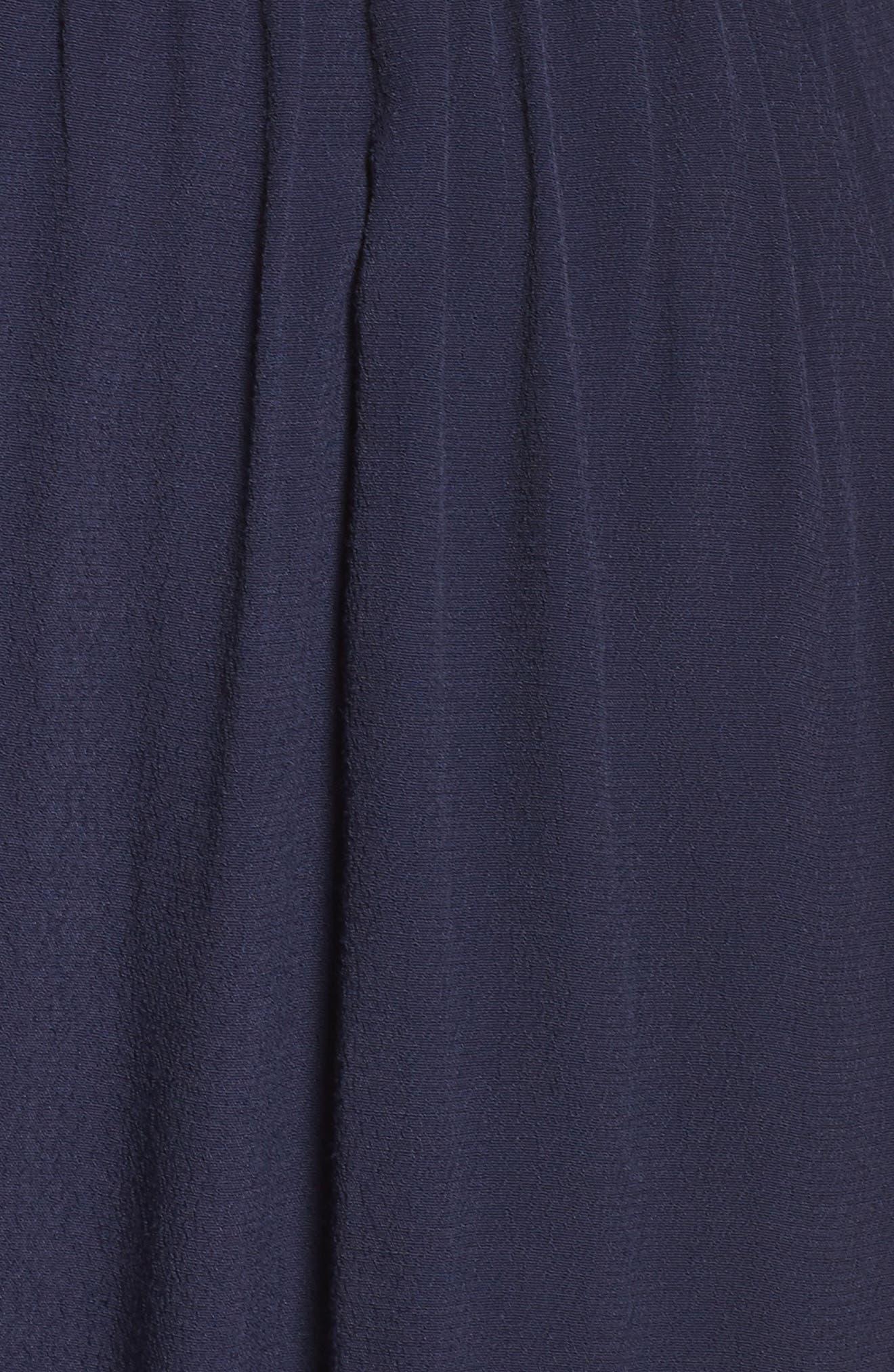 Cold Shoulder Jumpsuit,                             Alternate thumbnail 5, color,                             Navy