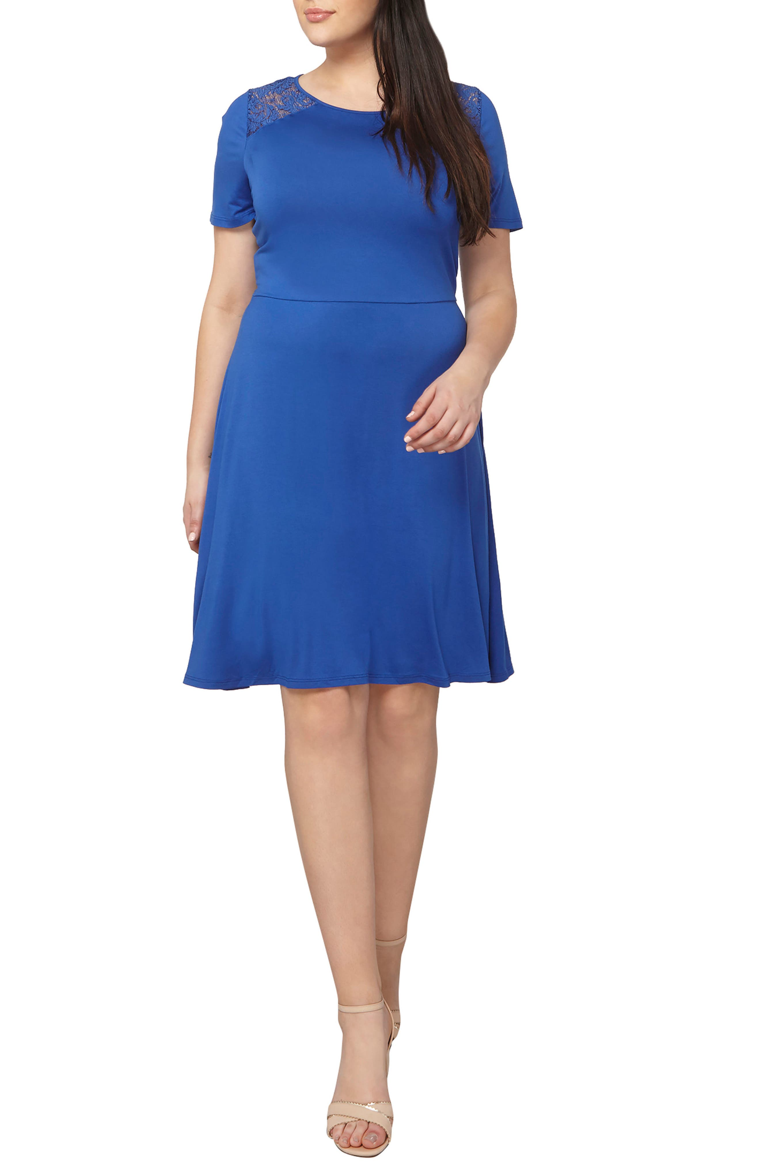 Dorothy Perkins Fit & Flare Dress (Plus Size)