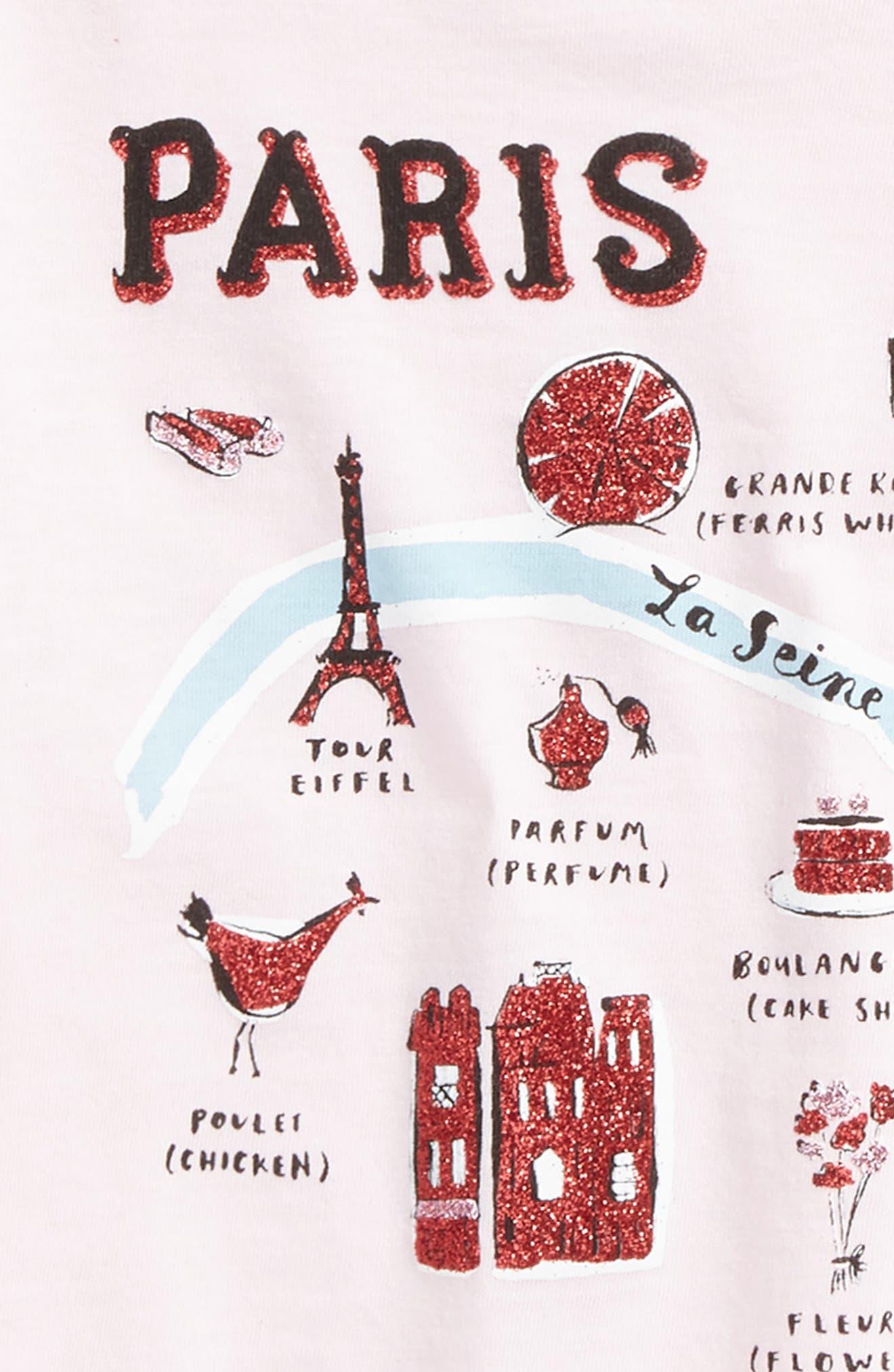 Alternate Image 2  - kate spade new york paris graphic tee (Toddler Girls & Little Girls)