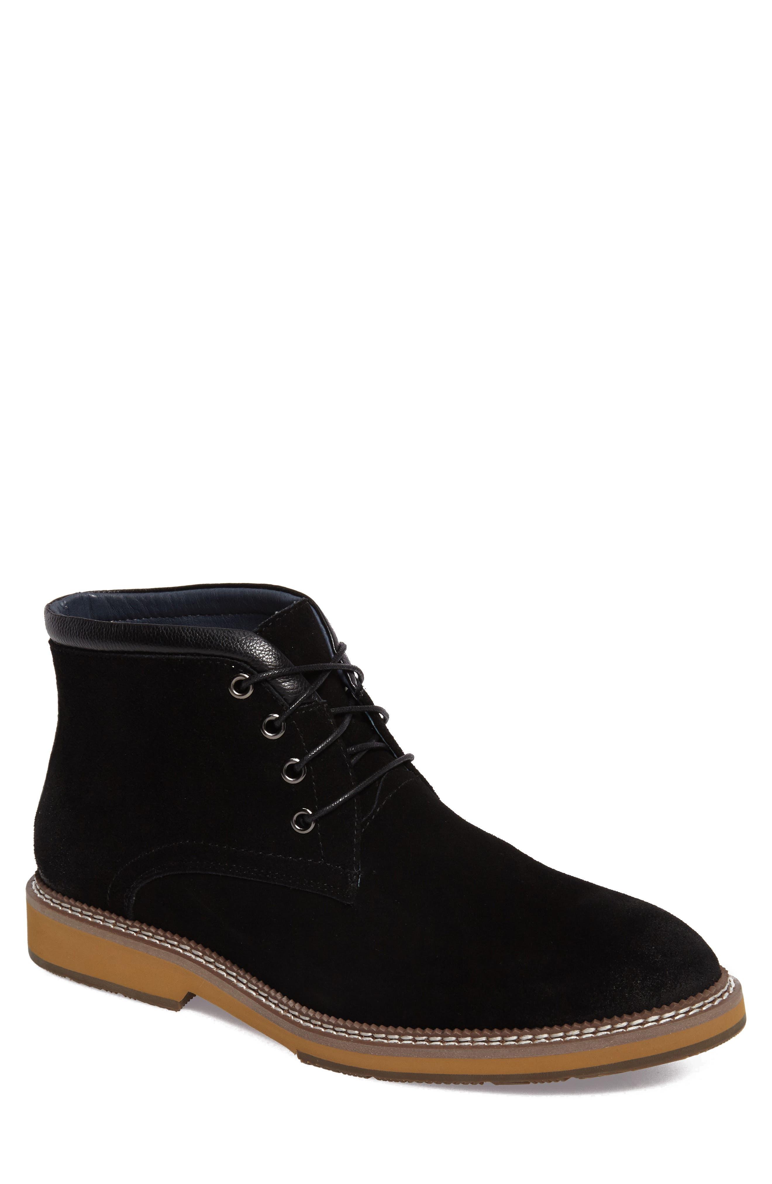 Lazo Chukka Boot,                         Main,                         color, Black Leather