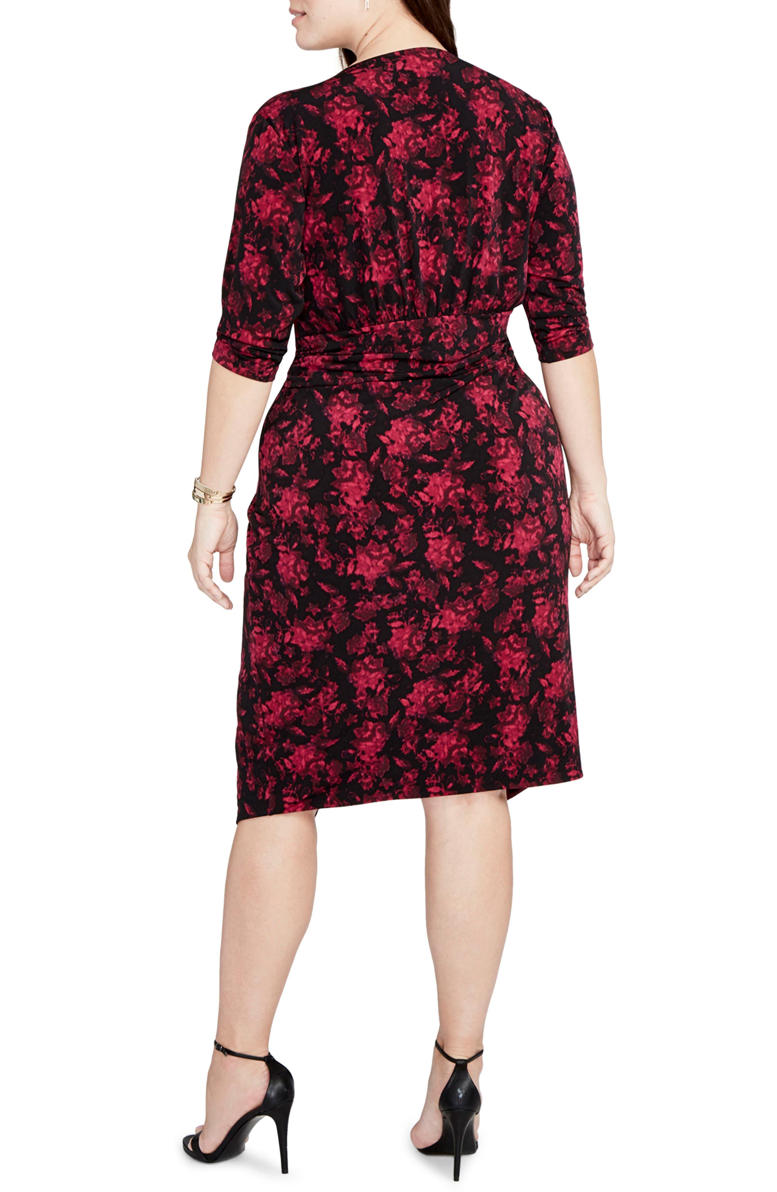 Alternate Image 2  - RACHEL Rachel Roy Print Wrap Front Jersey Dress (Plus Size)