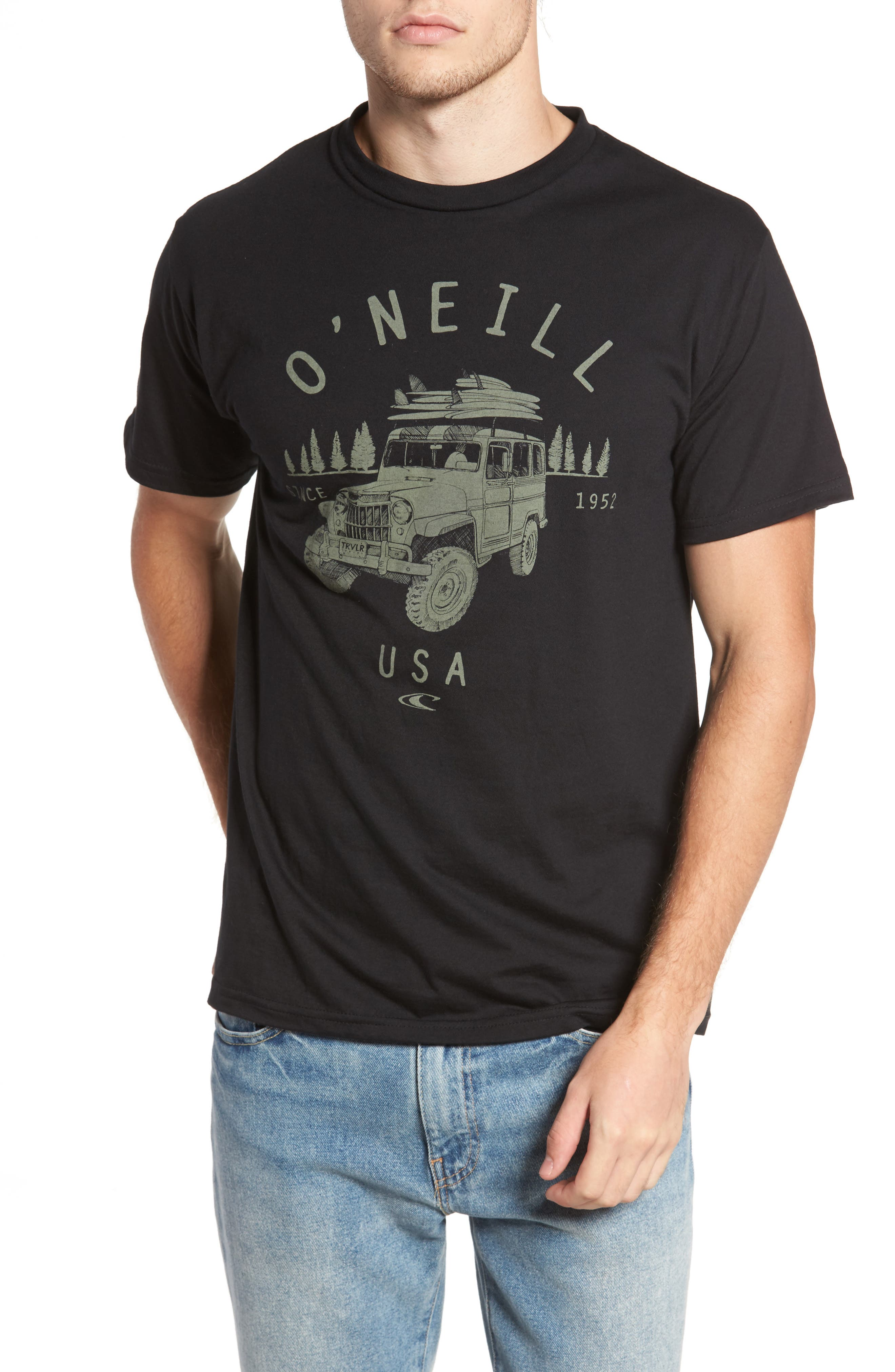 Willy Graphic T-Shirt,                         Main,                         color, Black