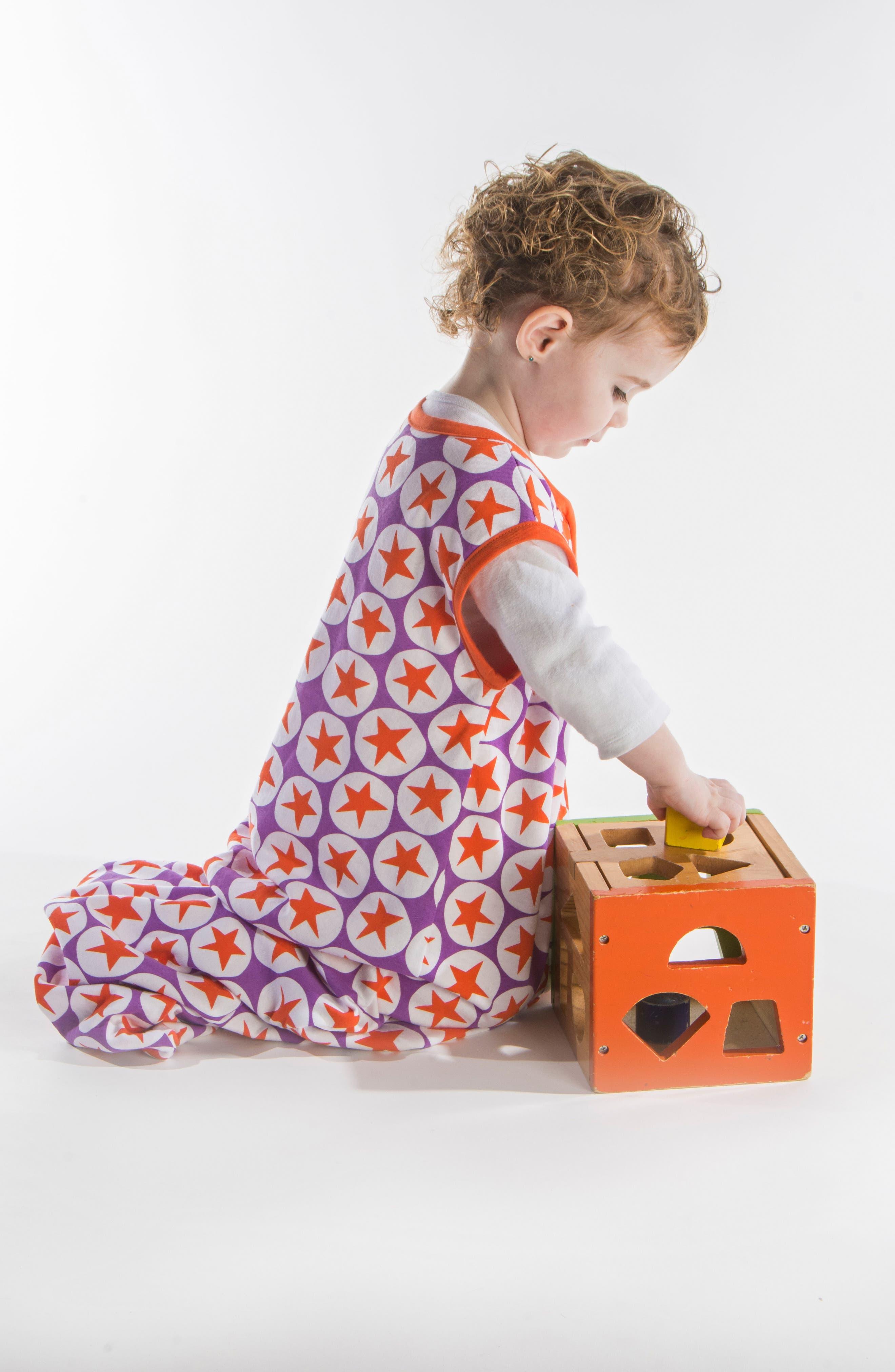 Alternate Image 3  - Little Fishkopp Stars Organic Cotton Wearable Blanket (Baby)