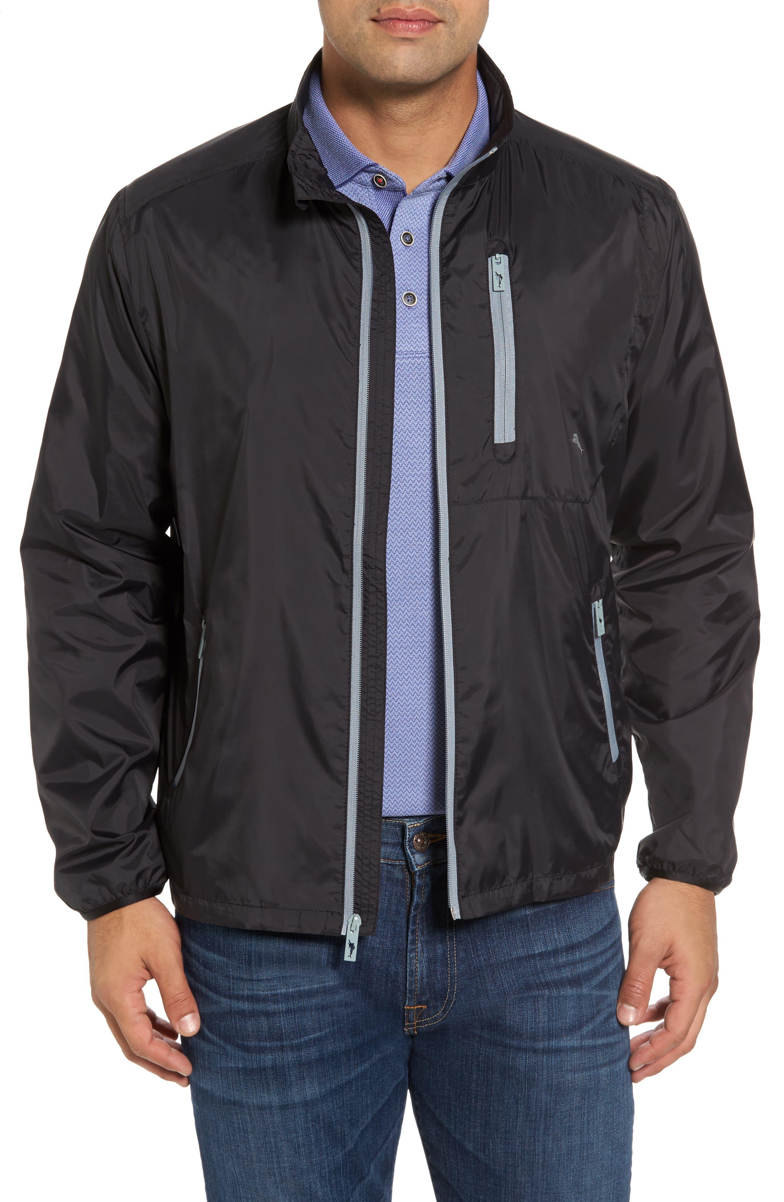 Nine Iron Water-Repellent Jacket,                             Main thumbnail 1, color,                             Black