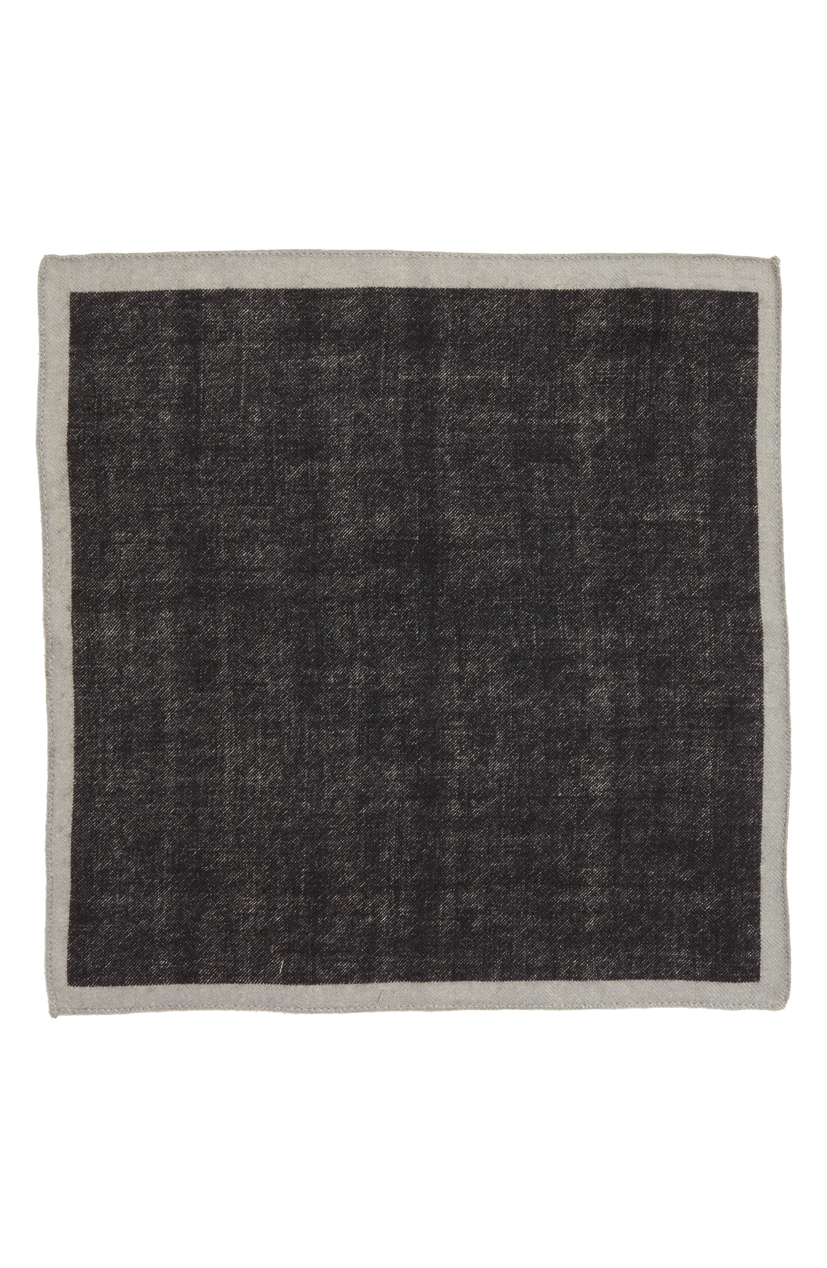 Alternate Image 2  - BOSS Solid Wool Pocket Square