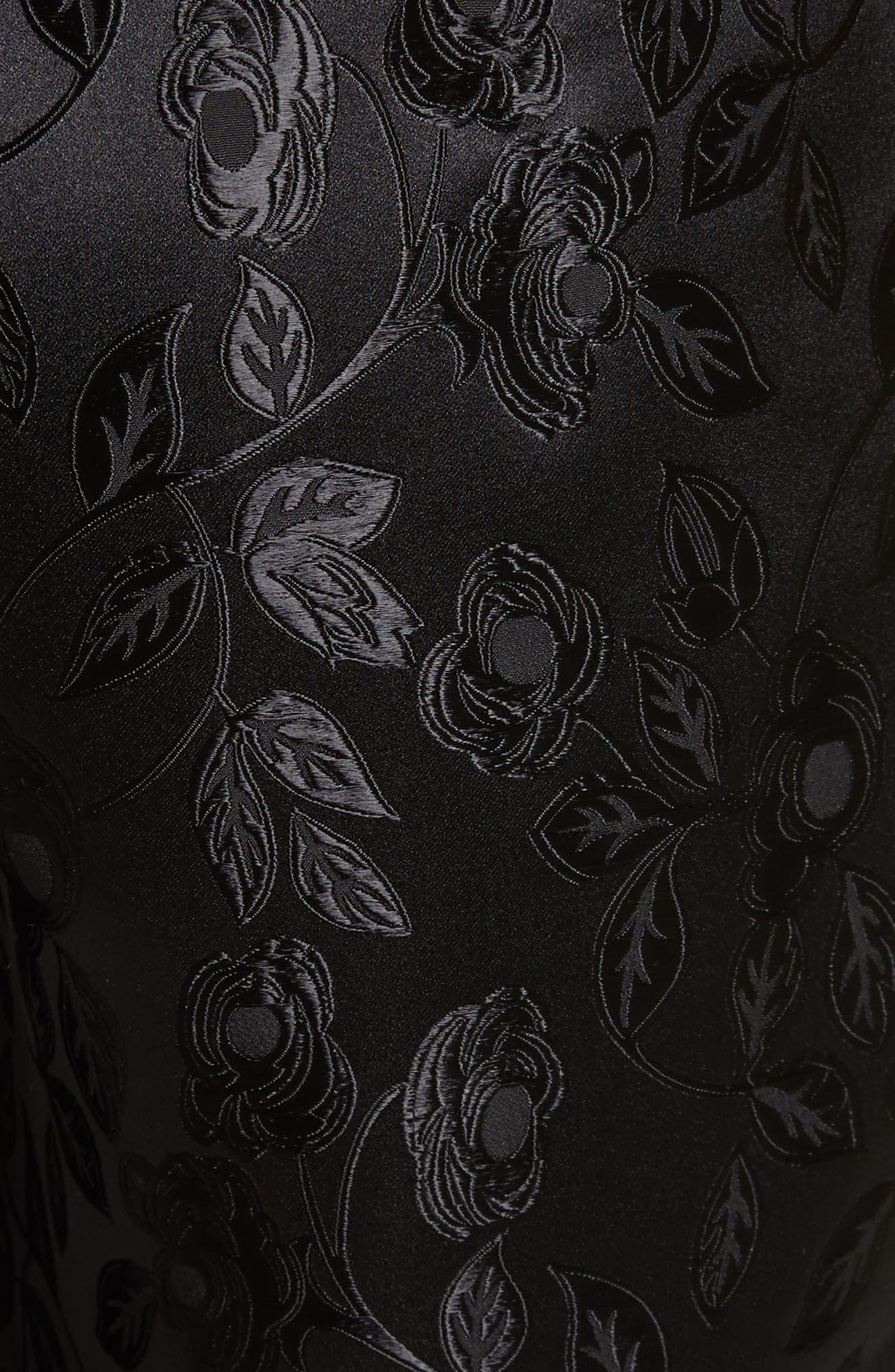 Jacquard Crop Pants,                             Alternate thumbnail 6, color,                             Black