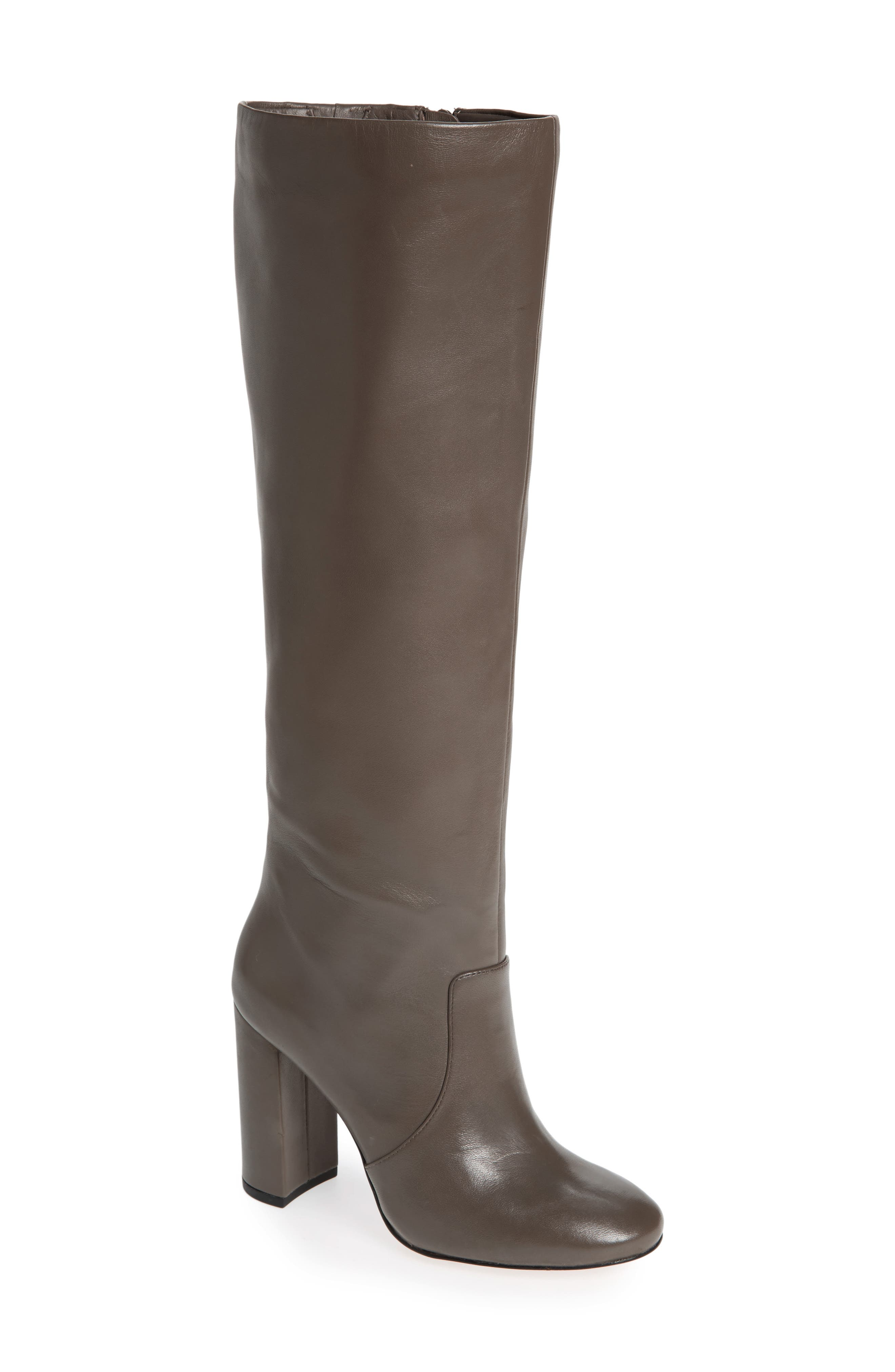 Roslin Knee High Boot,                             Main thumbnail 1, color,                             Graphite Leather