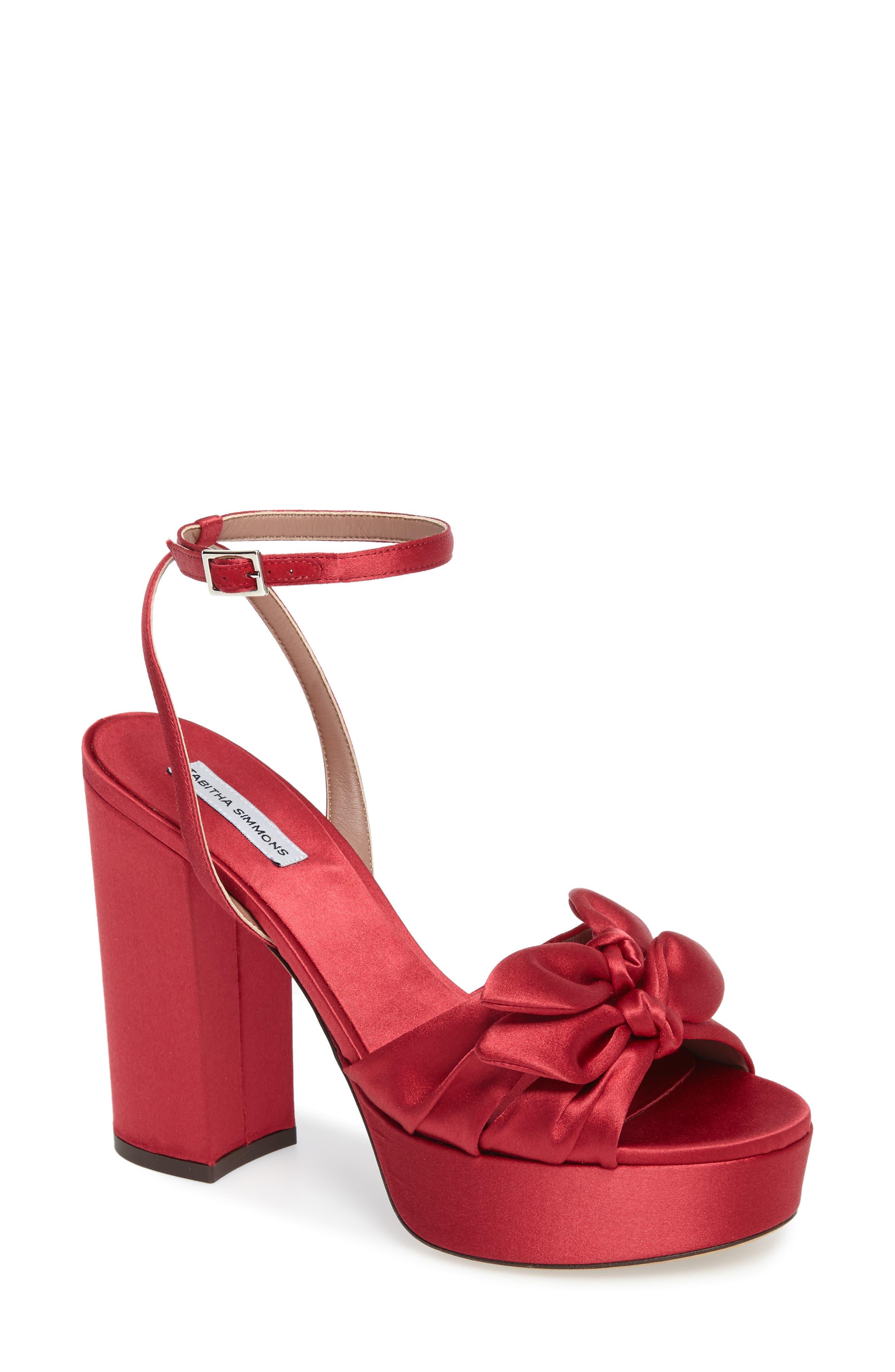 Jodie Platform Sandal,                         Main,                         color, Red