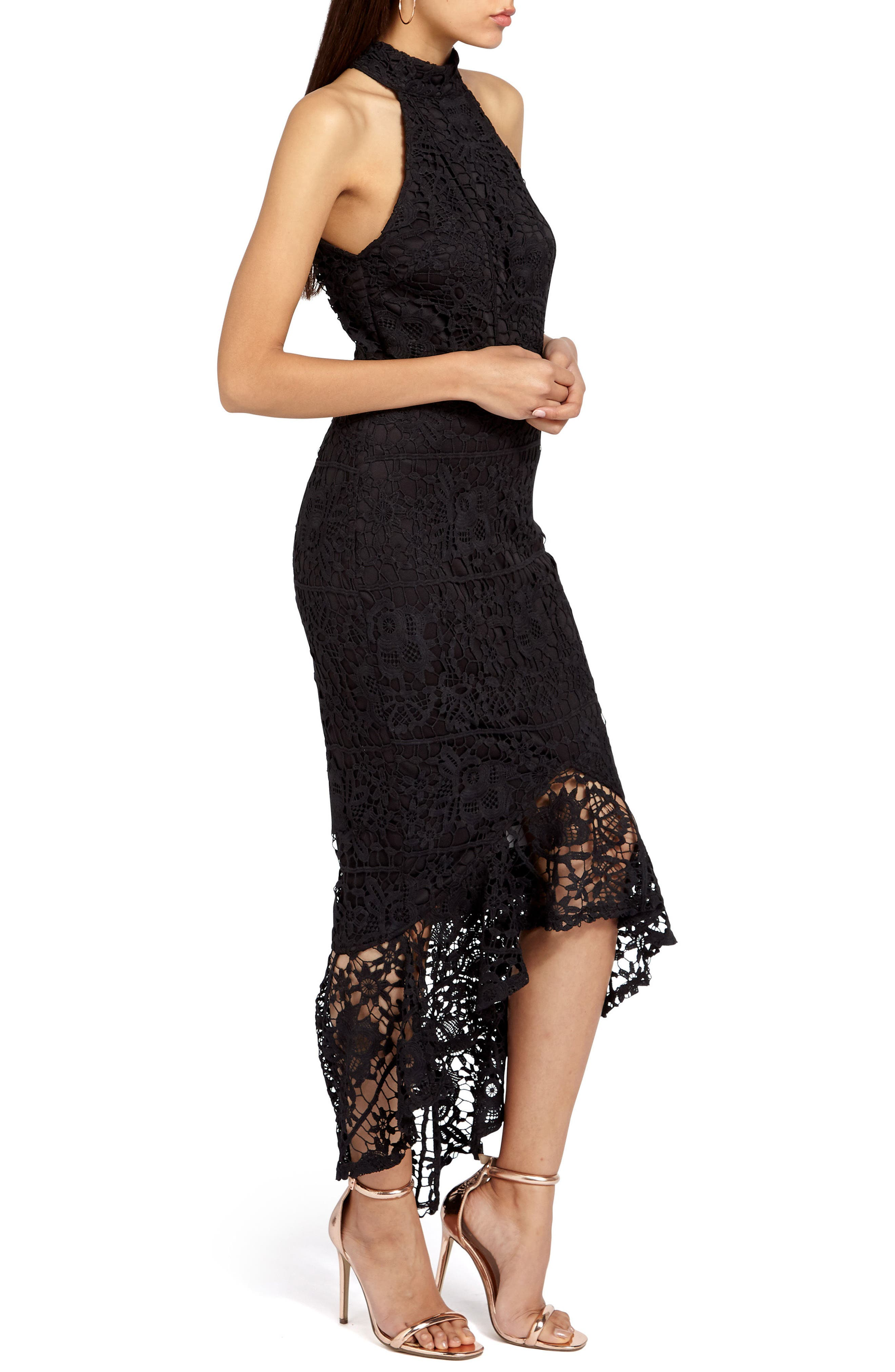 Alternate Image 3  - Missguided Lace Fishtail Body-Con Dress