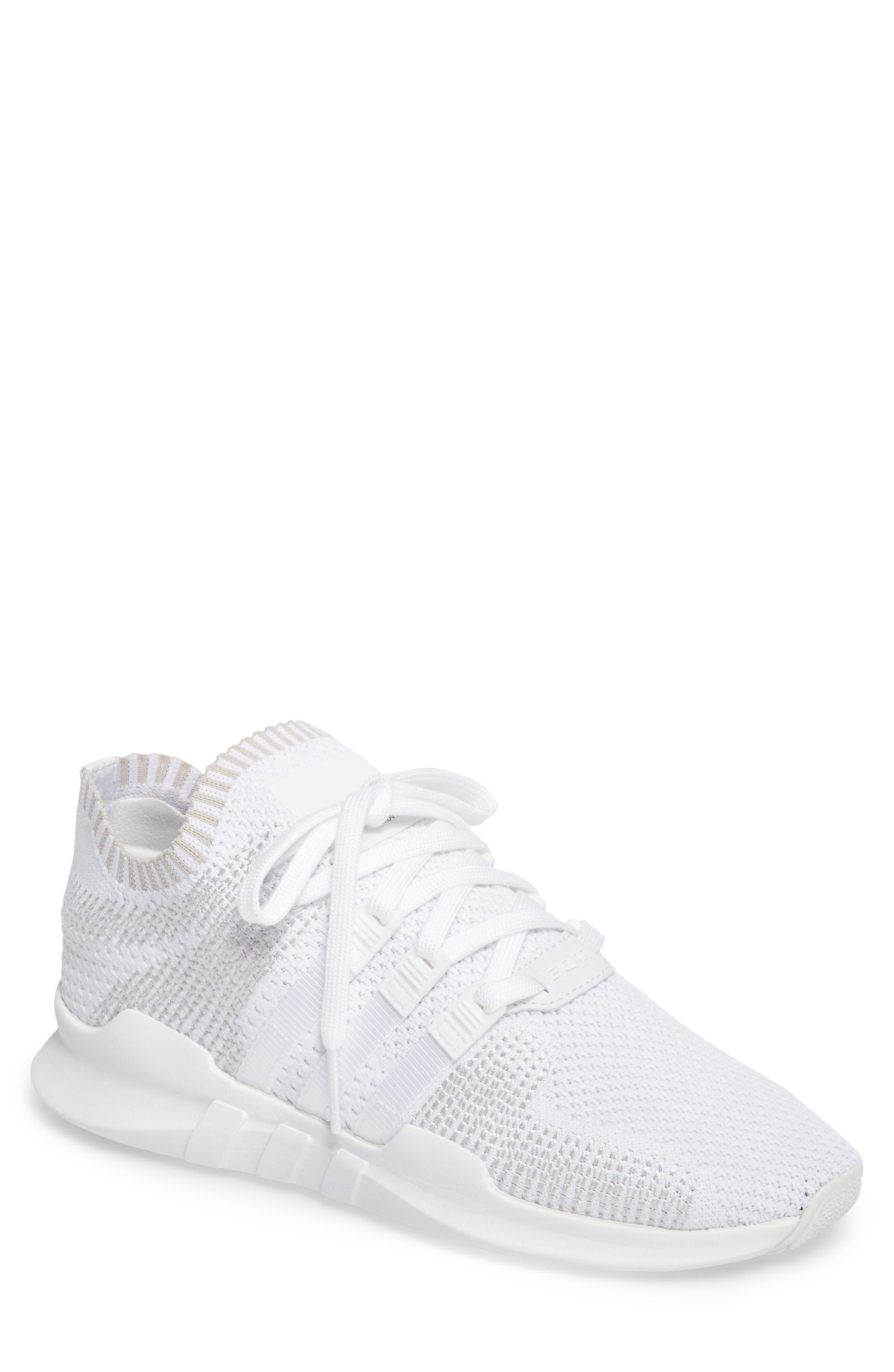EQT Support ADV PrimeKnit Sneaker,                         Main,                         color, White/ White/ Sub Green