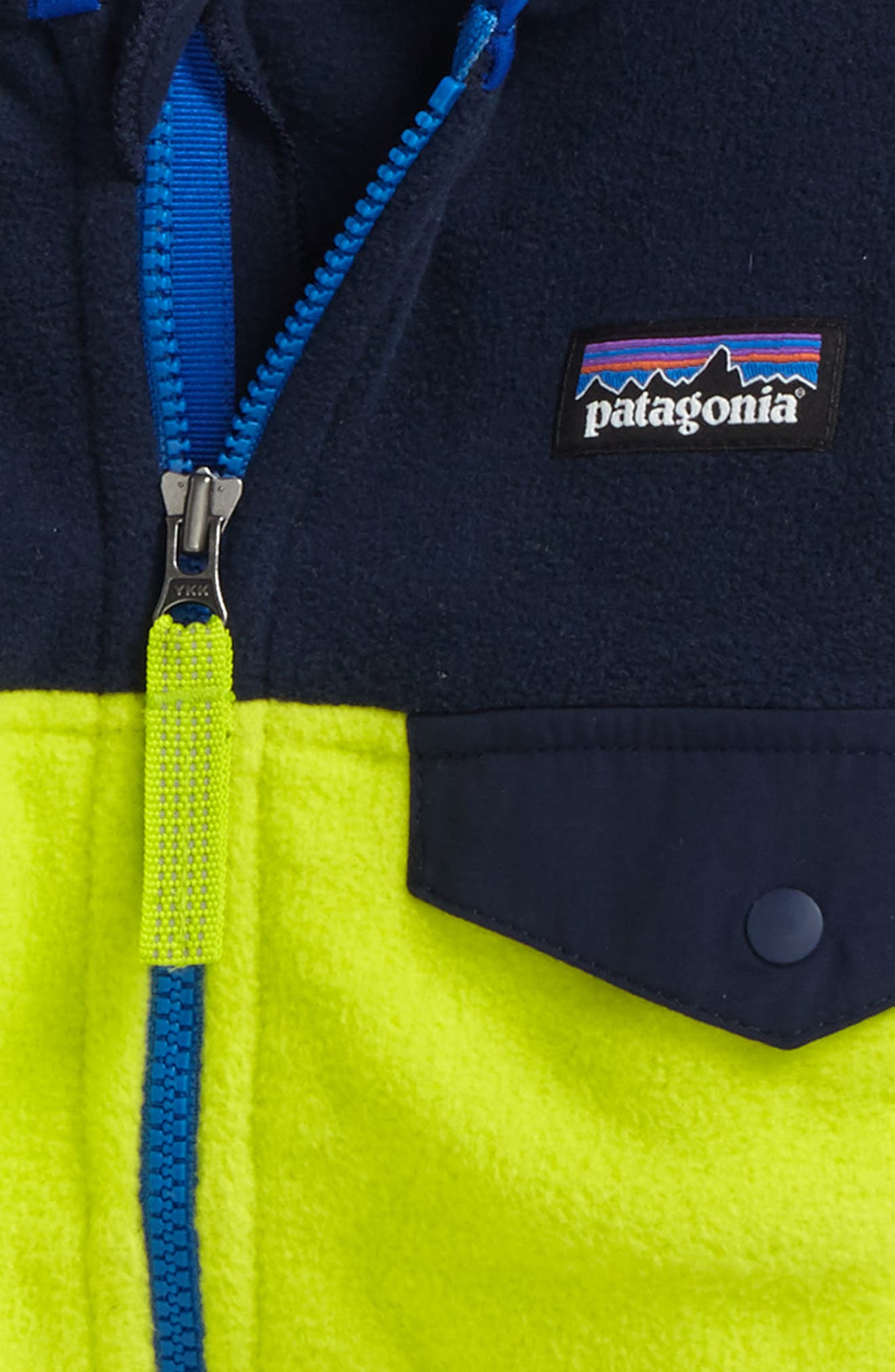 Alternate Image 2  - Patagonia Micro D® Snap-T® Fleece Jacket (Baby Boys)