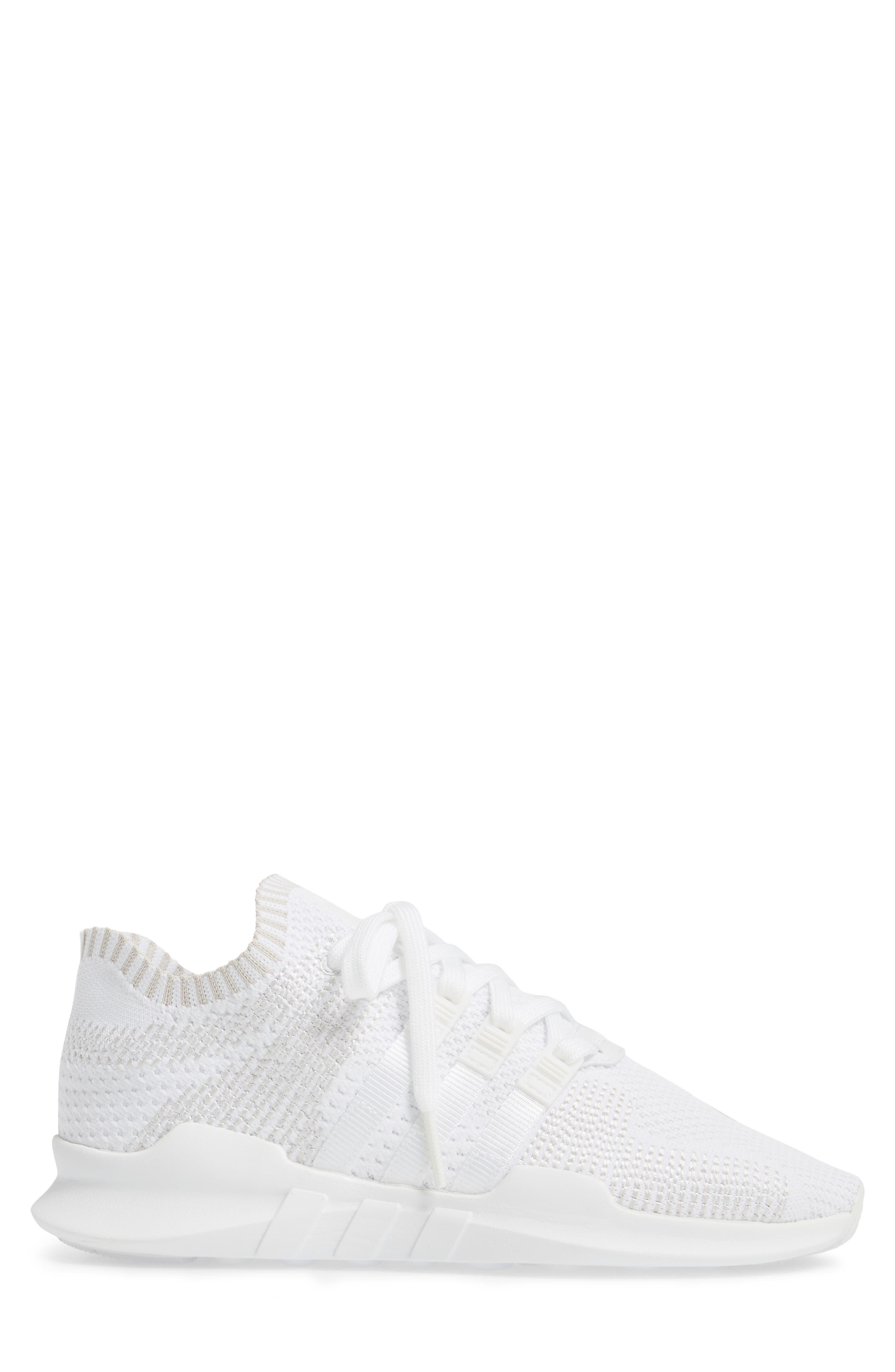 EQT Support ADV PrimeKnit Sneaker,                             Alternate thumbnail 3, color,                             White/ White/ Sub Green