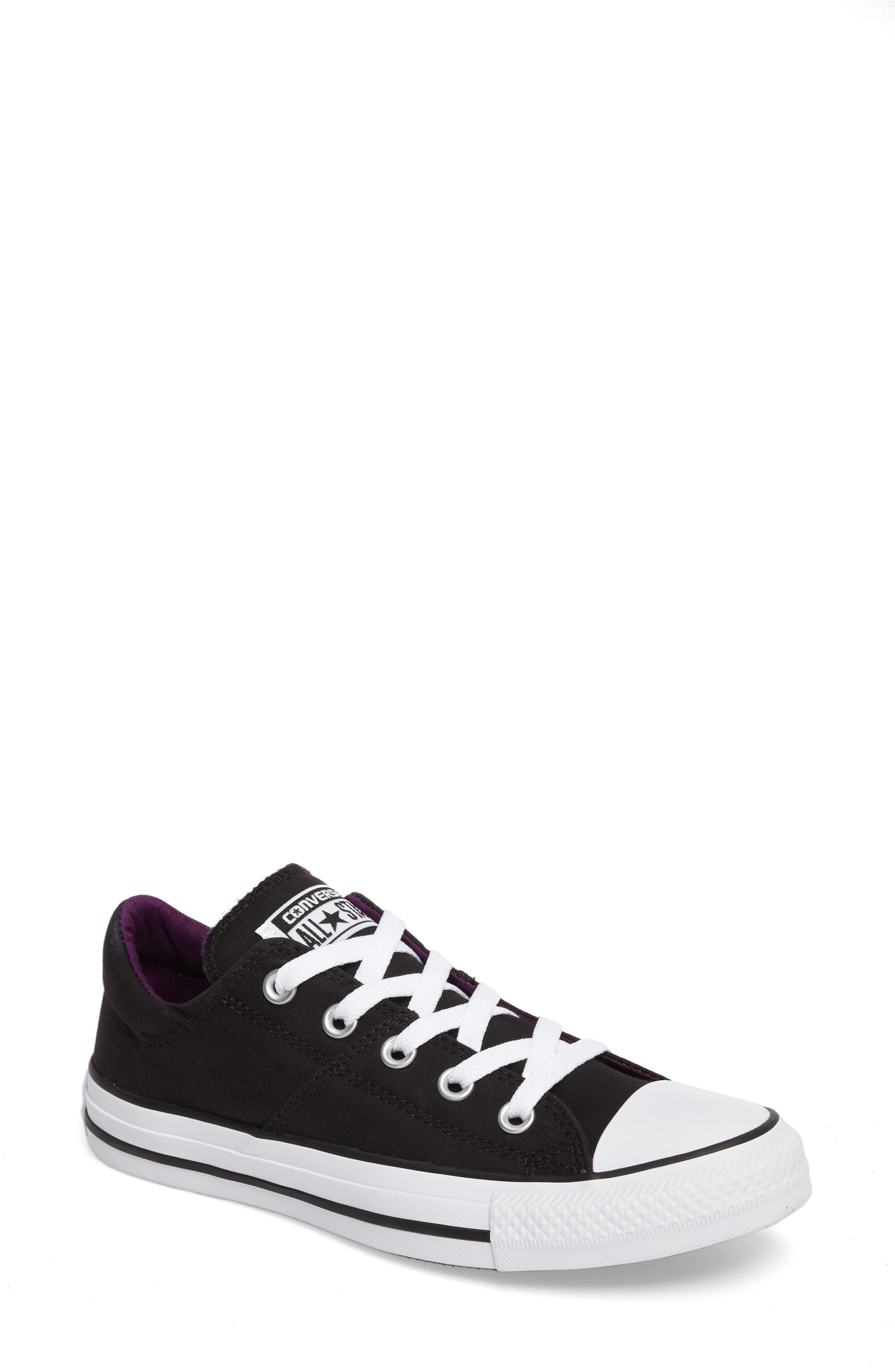 Chuck Taylor<sup>®</sup> All Star<sup>®</sup> Madison Low Top Sneaker,                         Main,                         color, Black Canvas