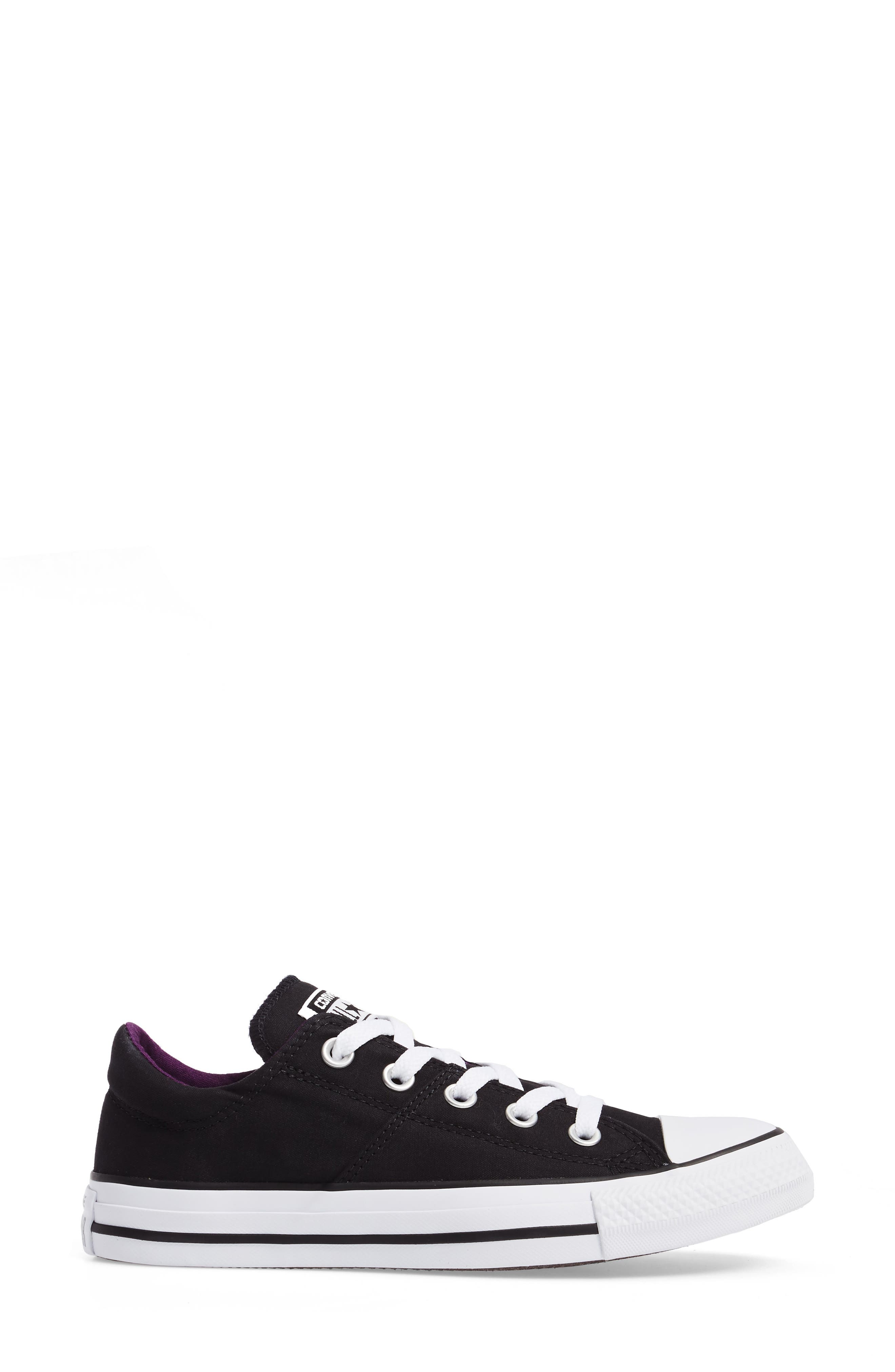 Chuck Taylor<sup>®</sup> All Star<sup>®</sup> Madison Low Top Sneaker,                             Alternate thumbnail 3, color,                             Black Canvas
