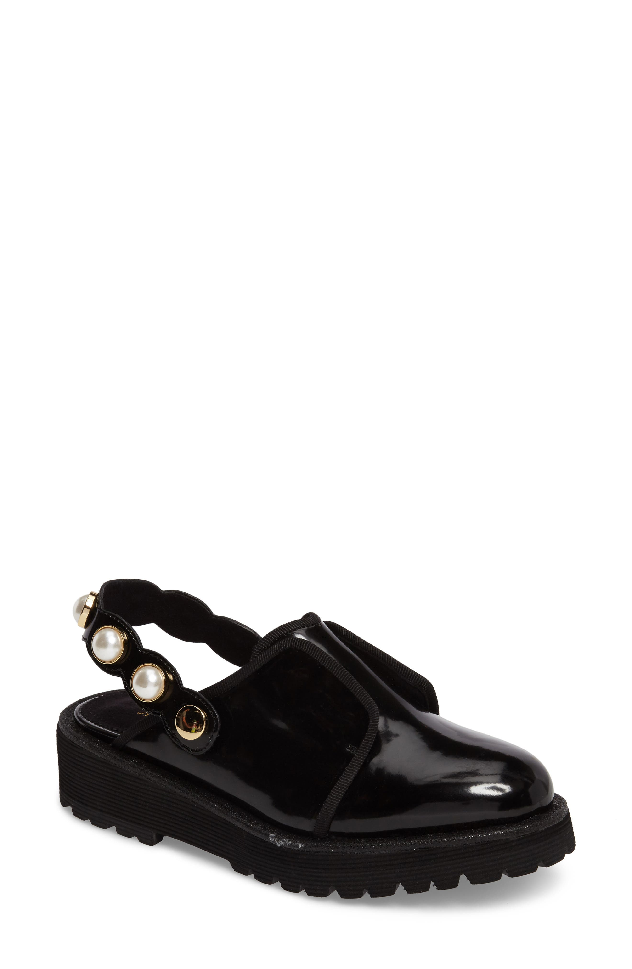 Embellished Slingback Oxford,                         Main,                         color, Black