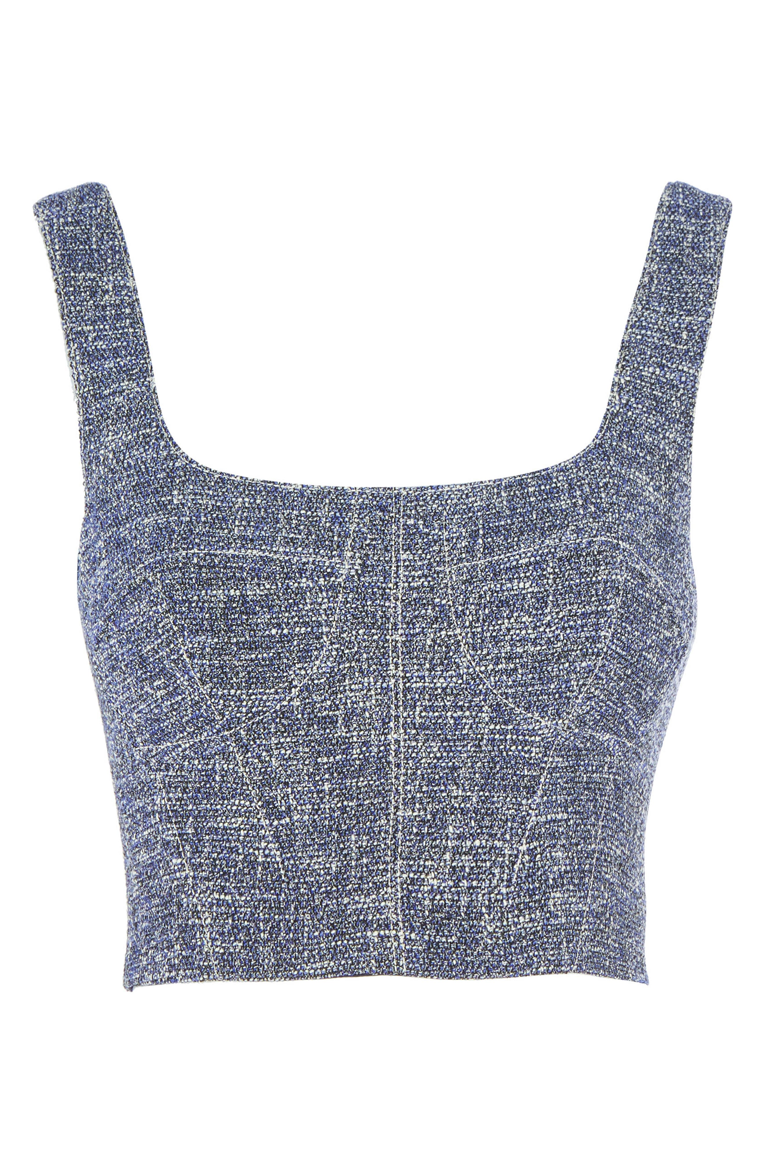 Topshop Bouclé Crop Top