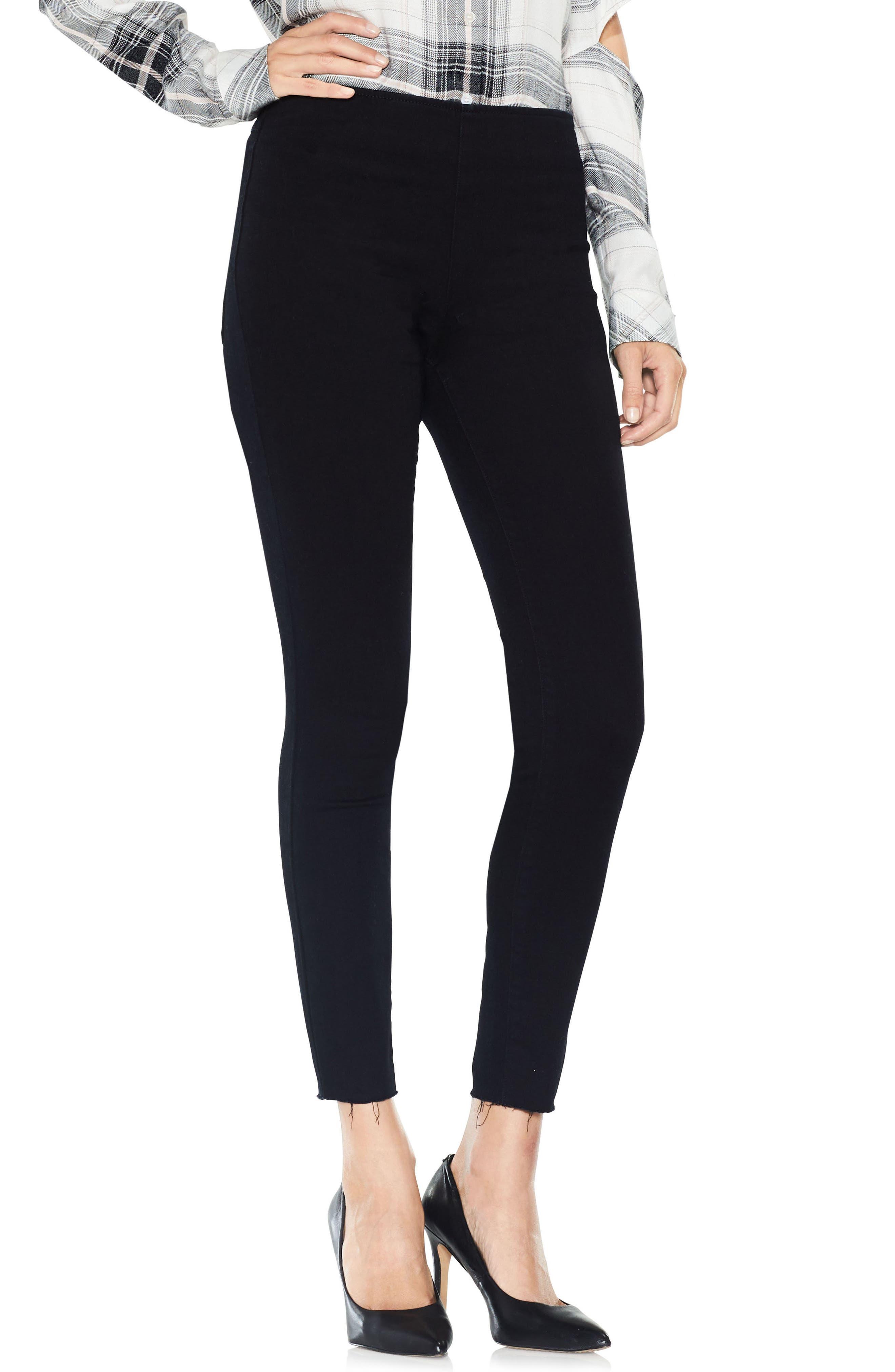 Super Stretch Denim Leggings,                         Main,                         color, Rich Black