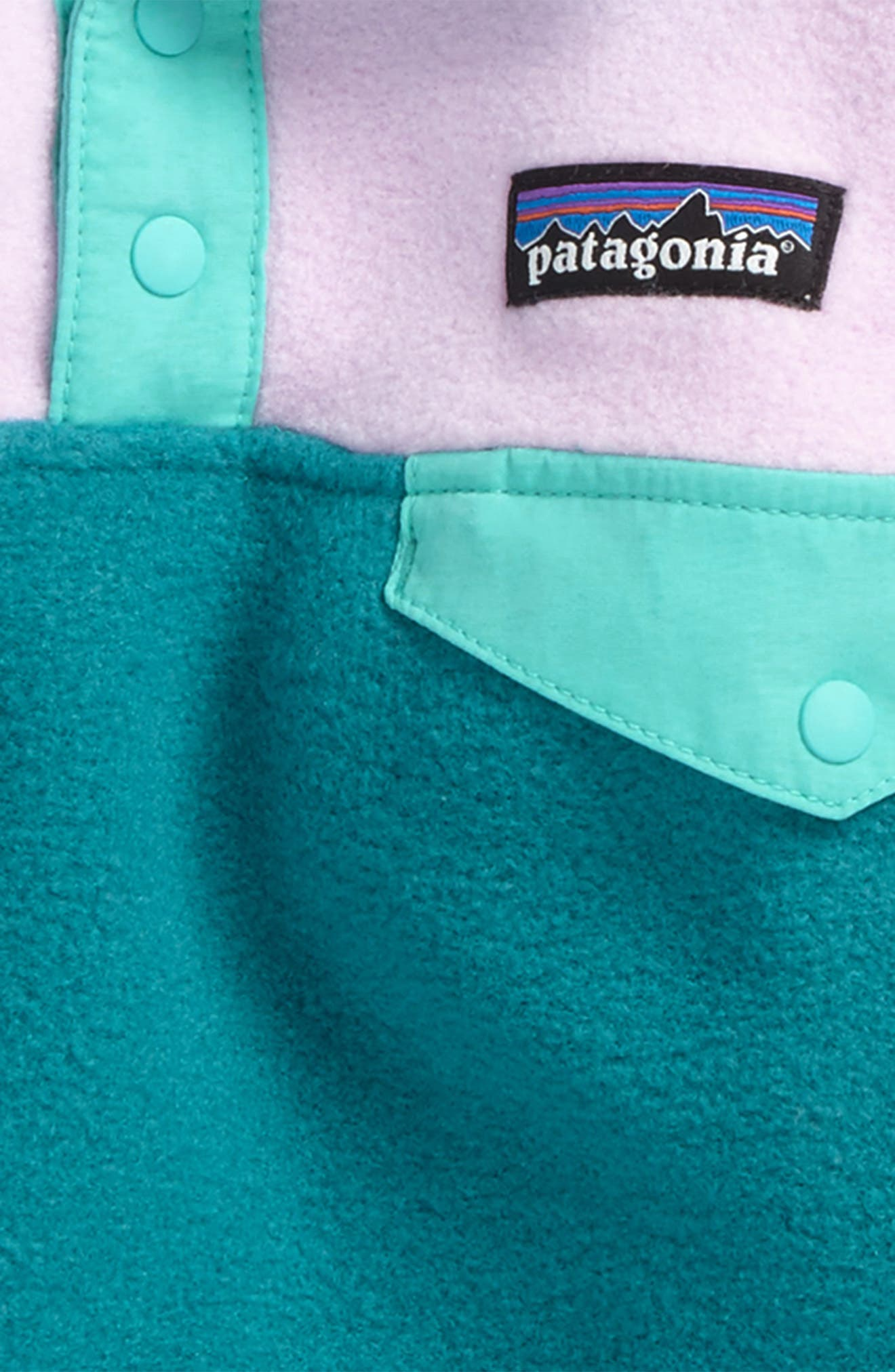 Alternate Image 2  - Patagonia Synchilla® Snap-T® Fleece Pullover (Toddler Girls)