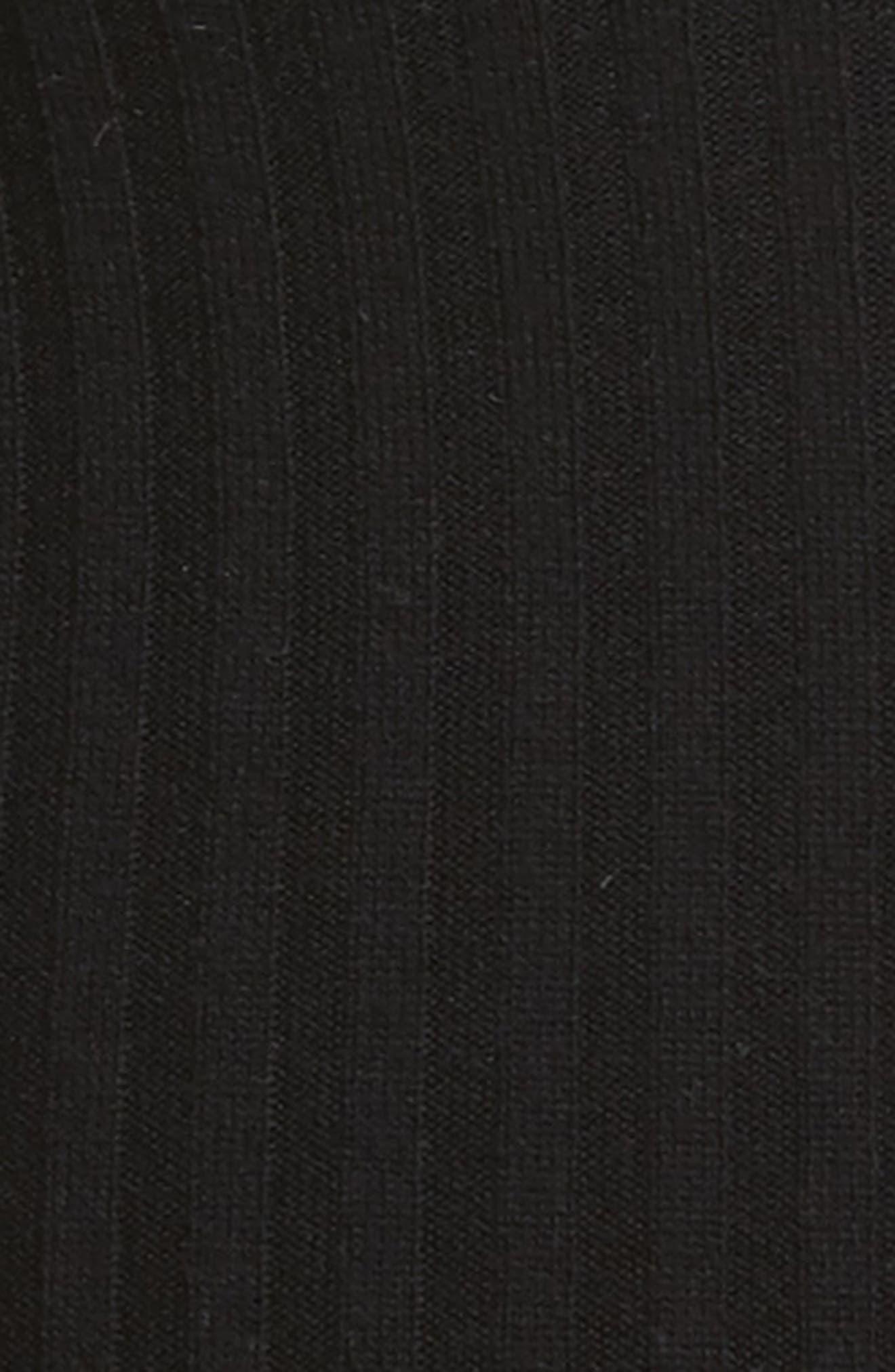 Ribbed Leggings,                             Alternate thumbnail 6, color,                             Black