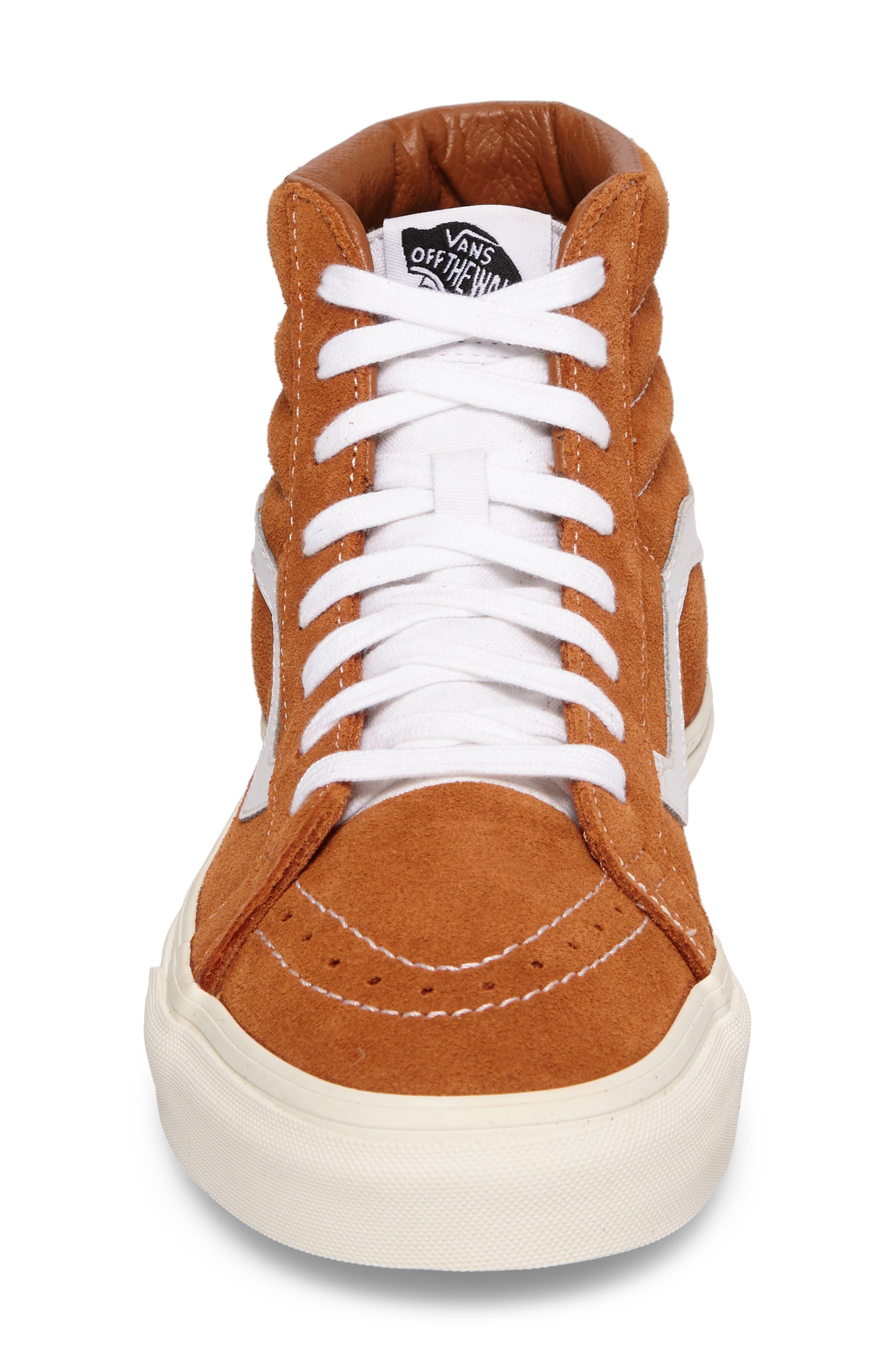 Sk8-Hi Reissue Sneaker,                             Alternate thumbnail 4, color,                             Glazed Ginger Suede