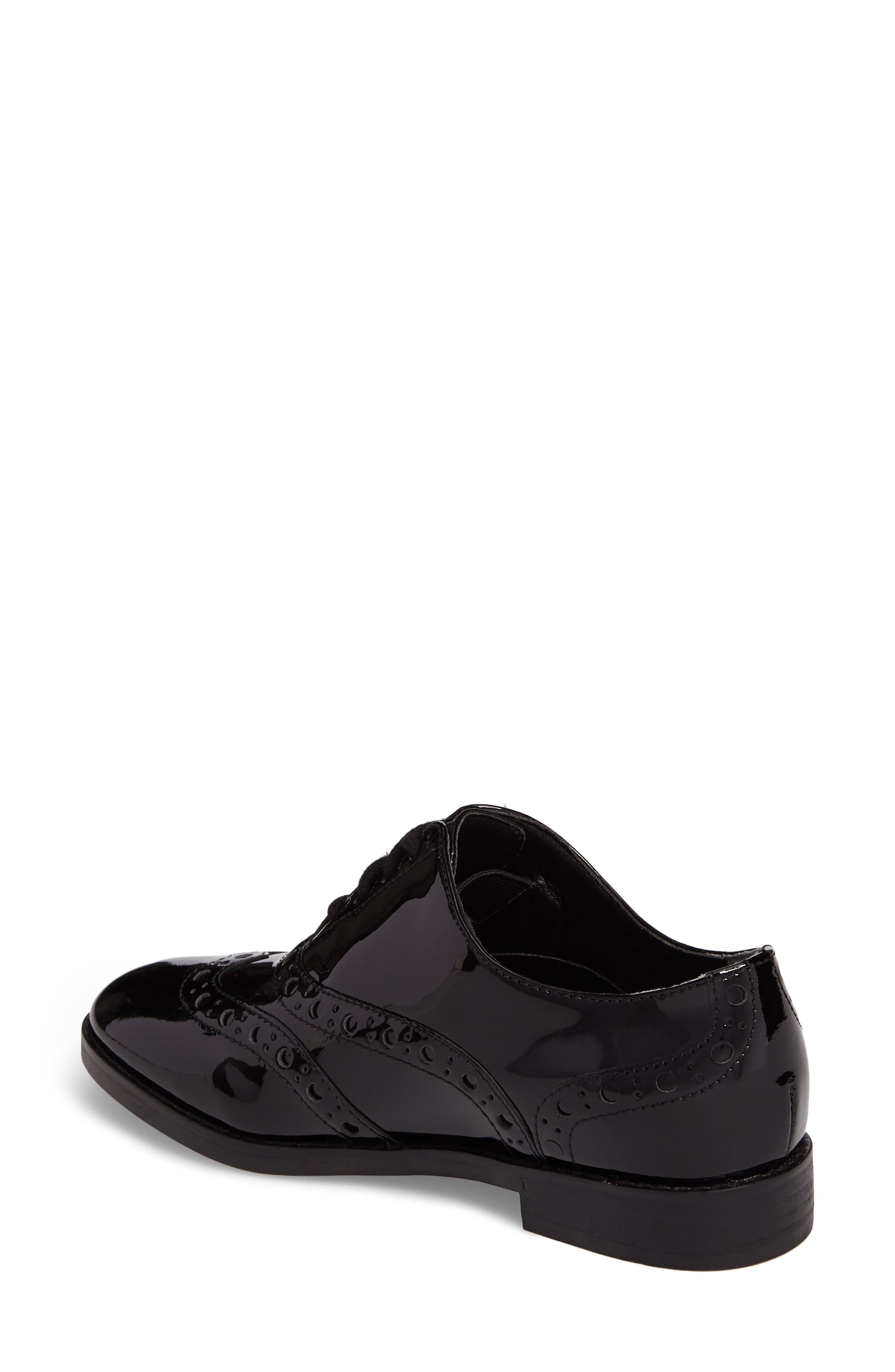 Hadley Wingtip,                             Alternate thumbnail 2, color,                             Black Patent Leather
