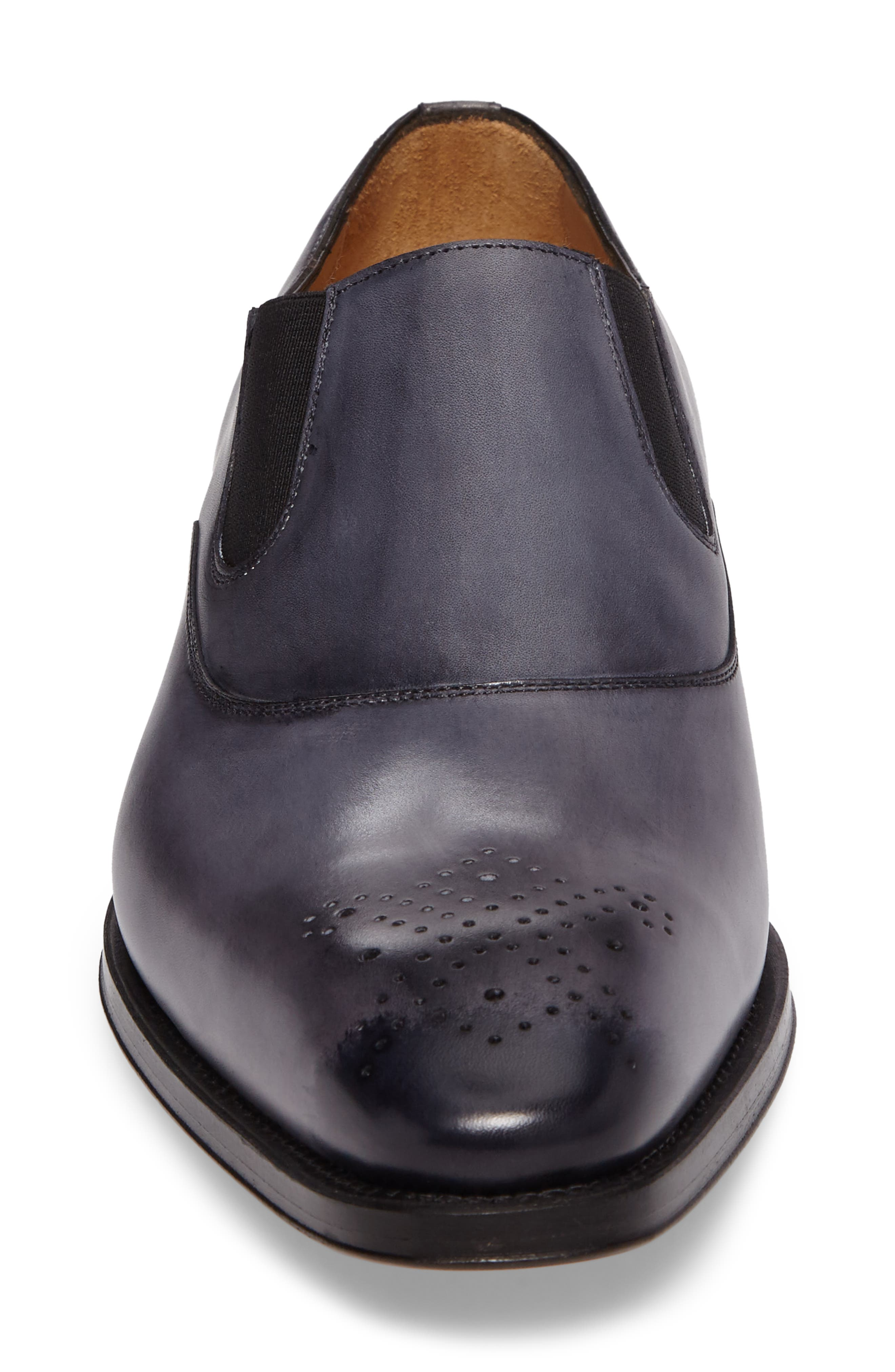 Posadas Venetian Loafer,                             Alternate thumbnail 4, color,                             Grey Leather