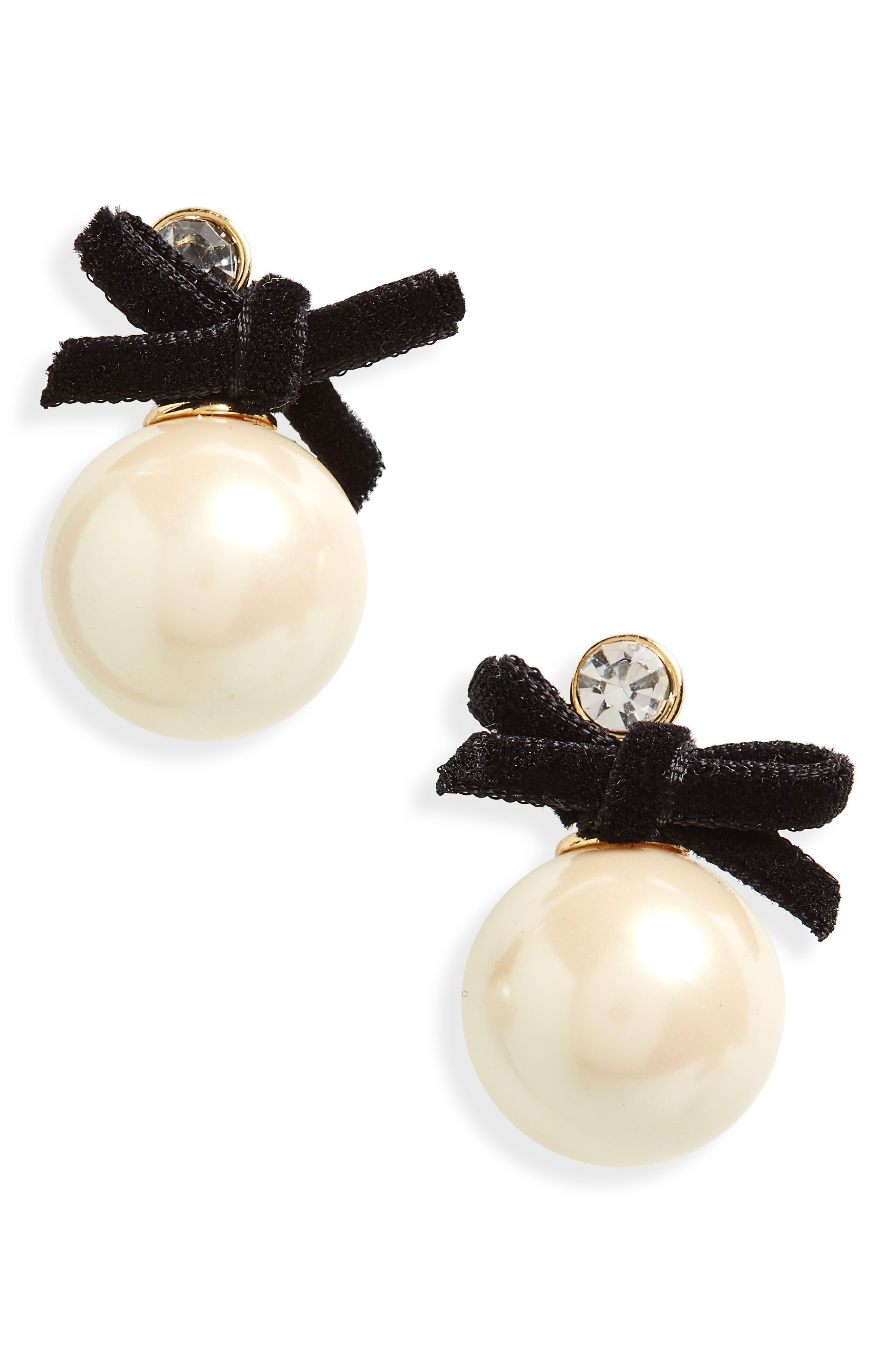 girls in pearls imitation pearl drop earrings,                             Main thumbnail 1, color,                             Cream Multi