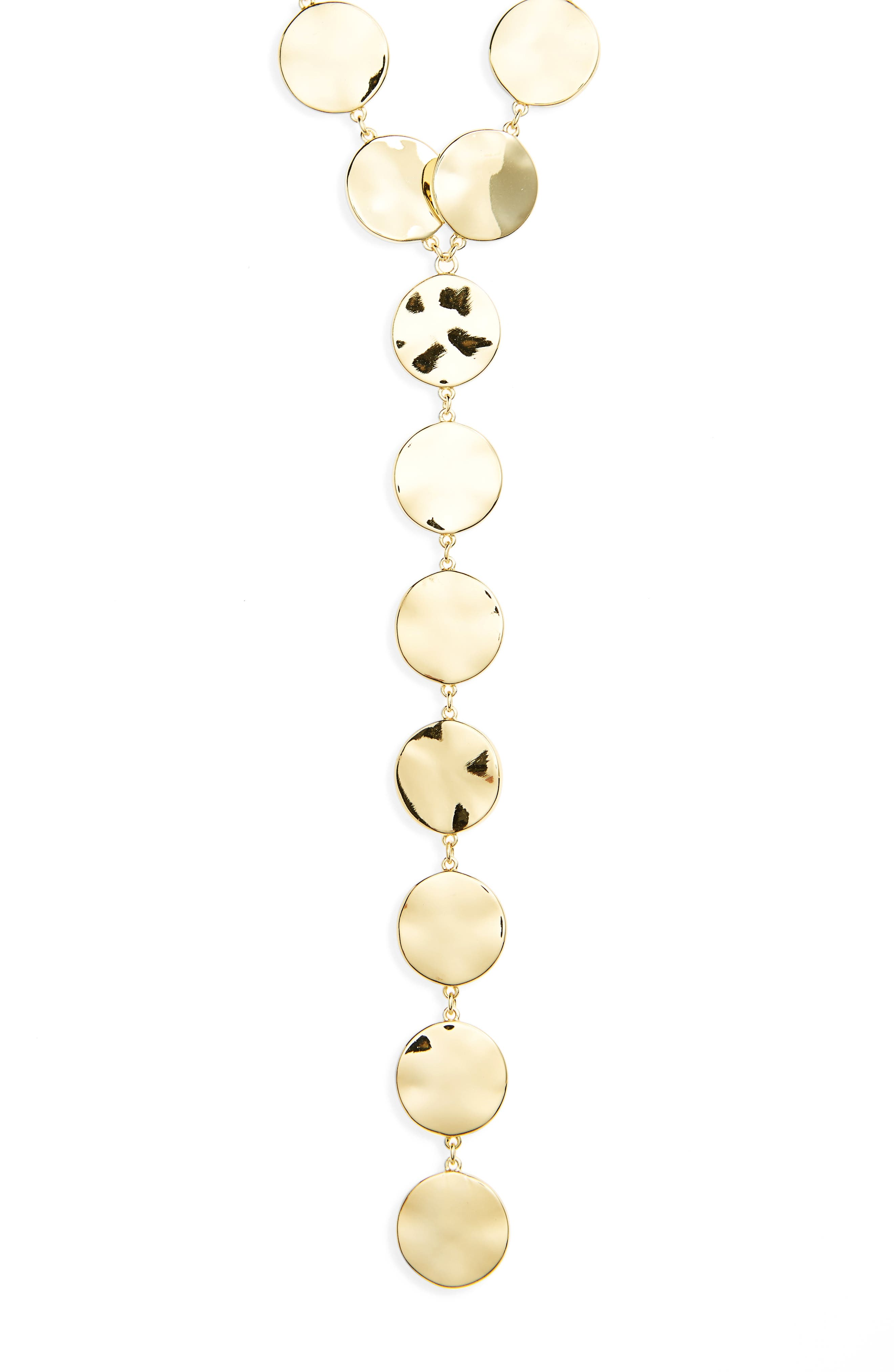 Chloe Y-Necklace,                             Alternate thumbnail 2, color,                             Gold