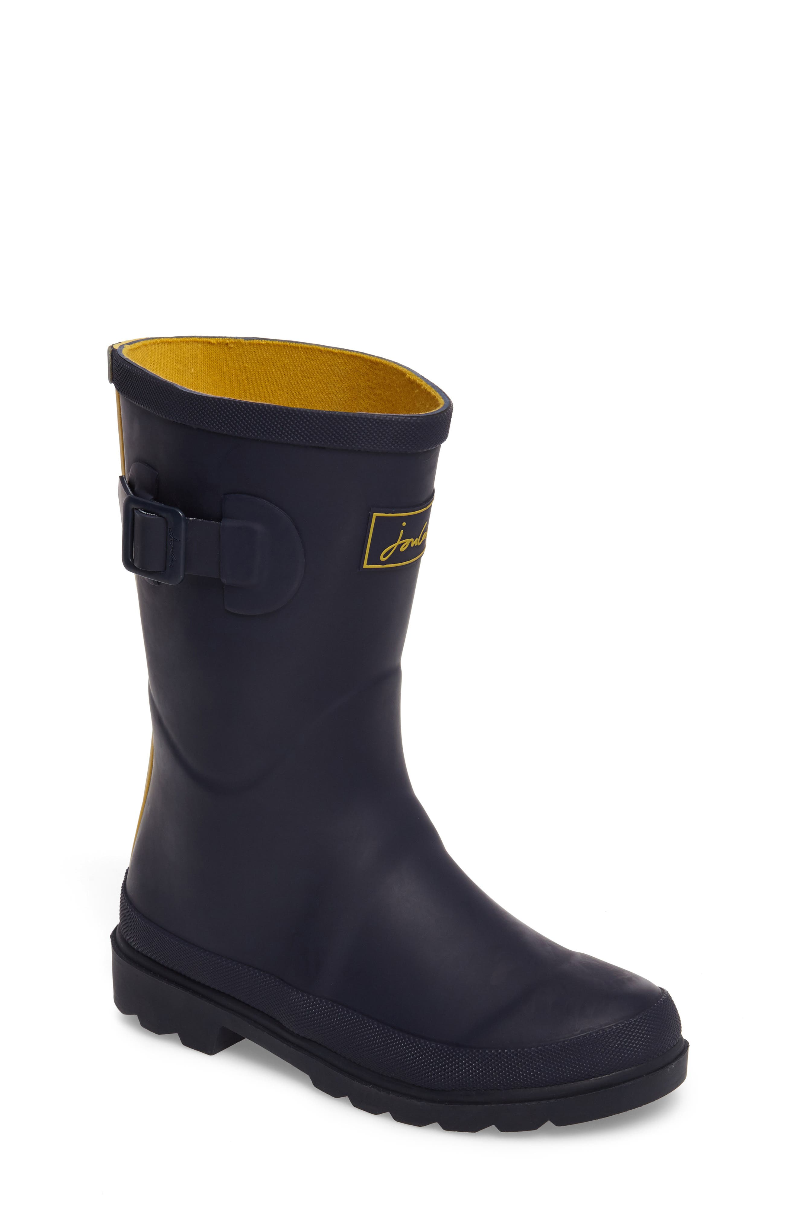 Main Image - Joules Mid Calf Matte Welly (Toddler & Little Kid)