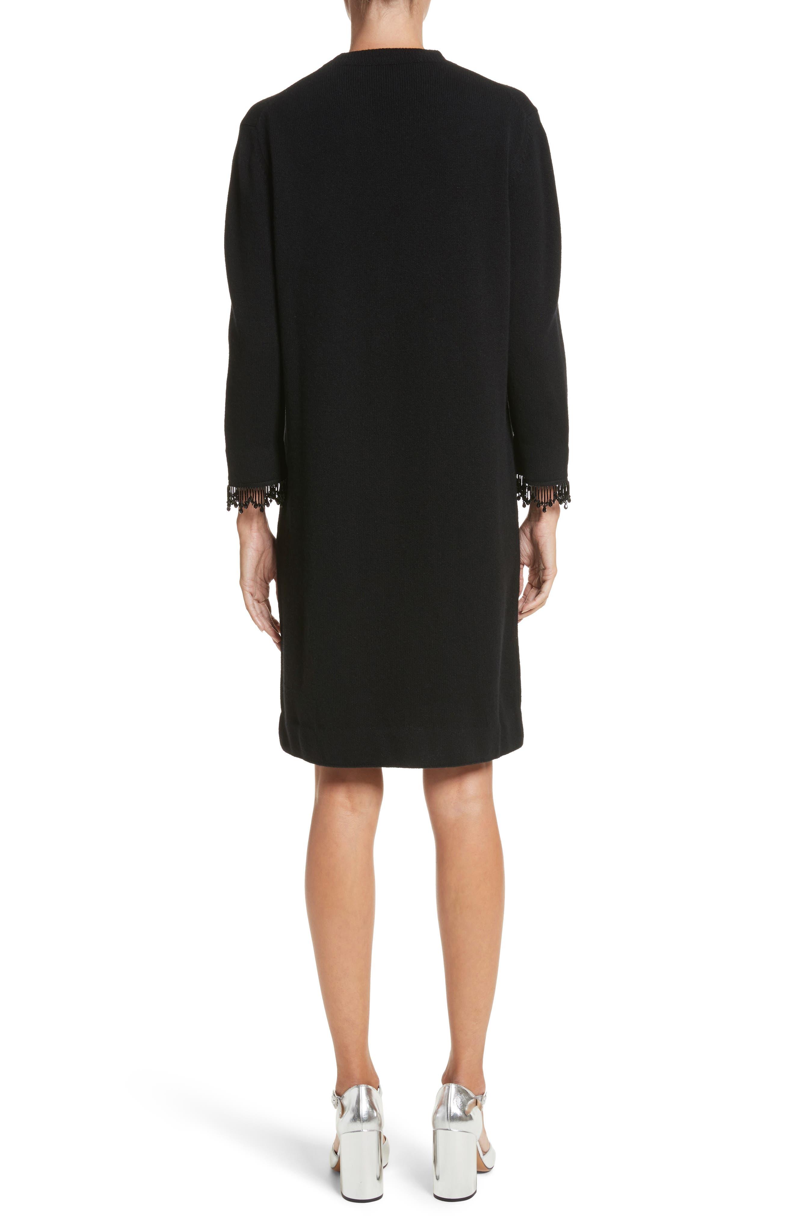 Alternate Image 2  - MARC JACOBS Beaded Fringe Wool & Cashmere Dress