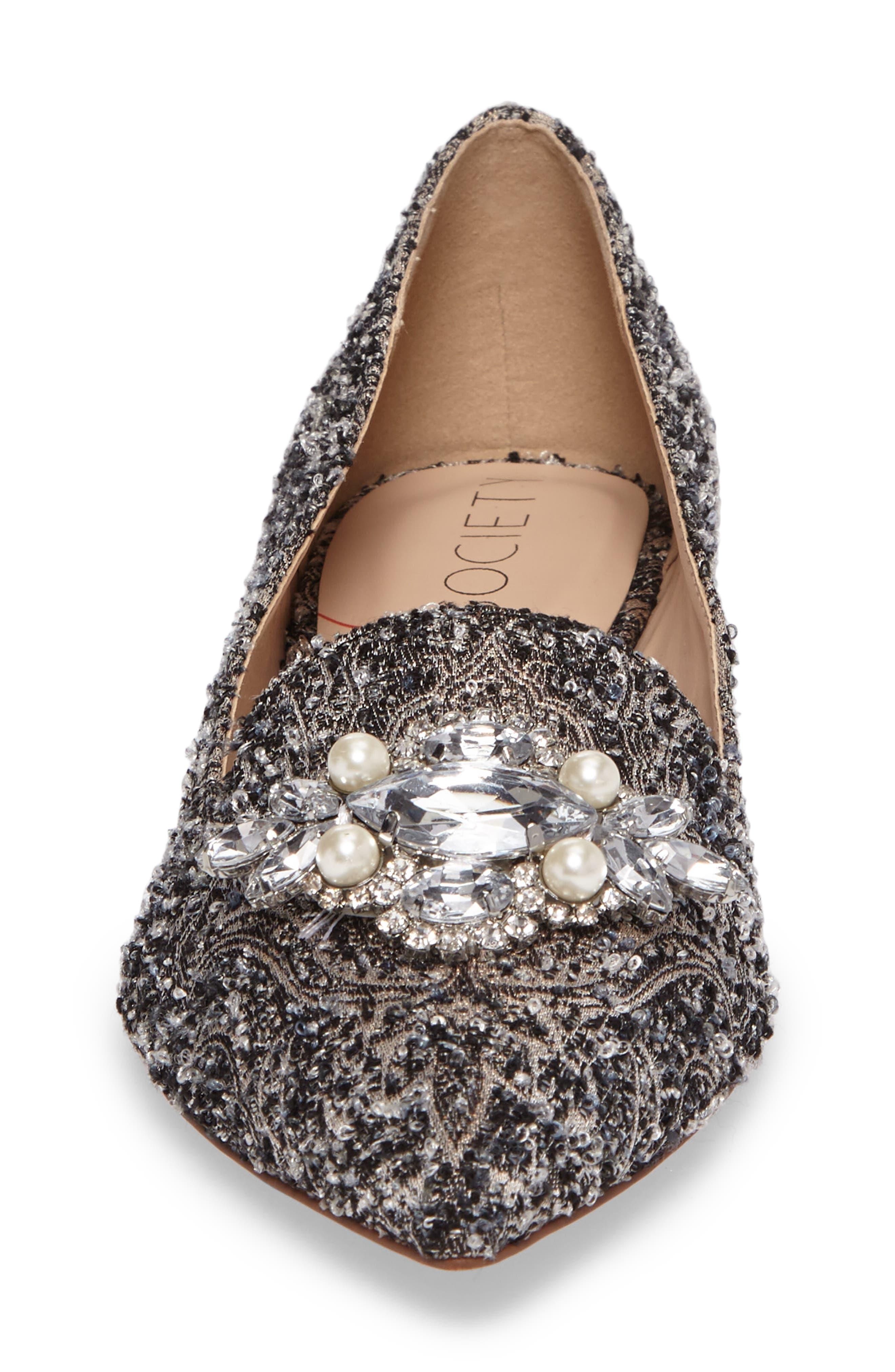 Alternate Image 4  - Sole Society Libry Crystal Embellished Flat (Women)