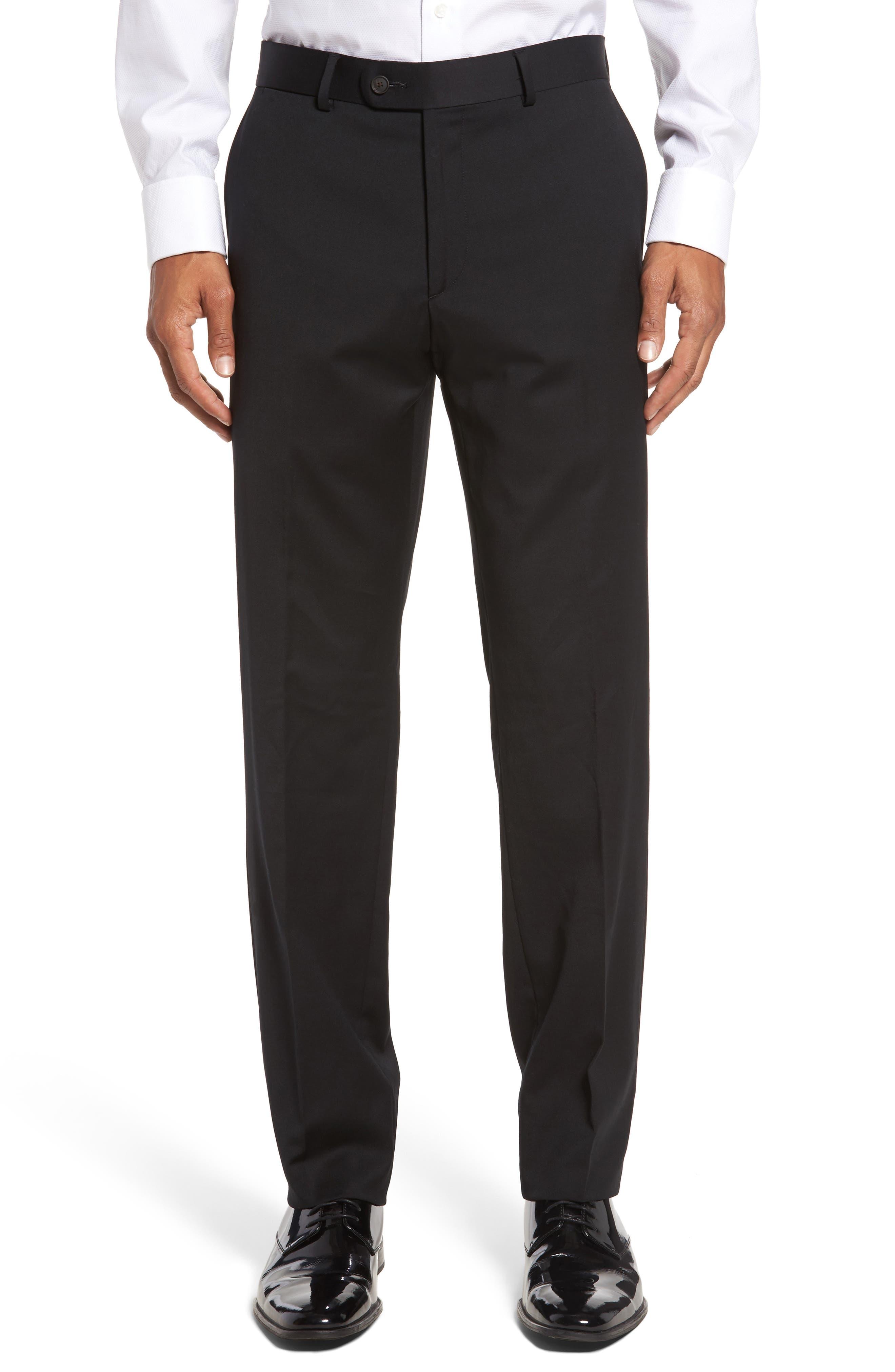 Keidis Aim Classic Fit Stretch Wool Suit,                             Alternate thumbnail 6, color,                             Black