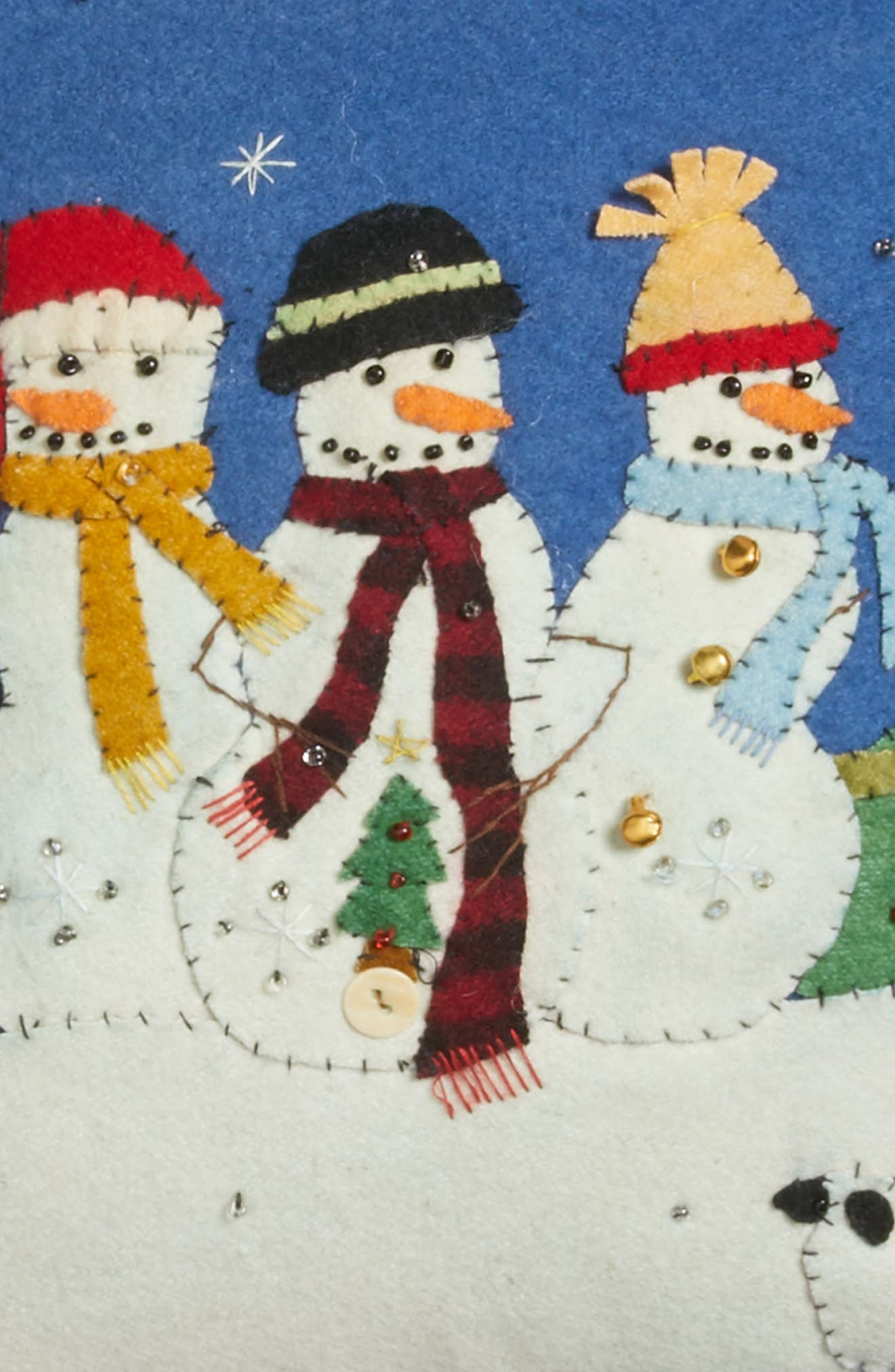Alternate Image 3  - New World Arts Snowmen Pillow