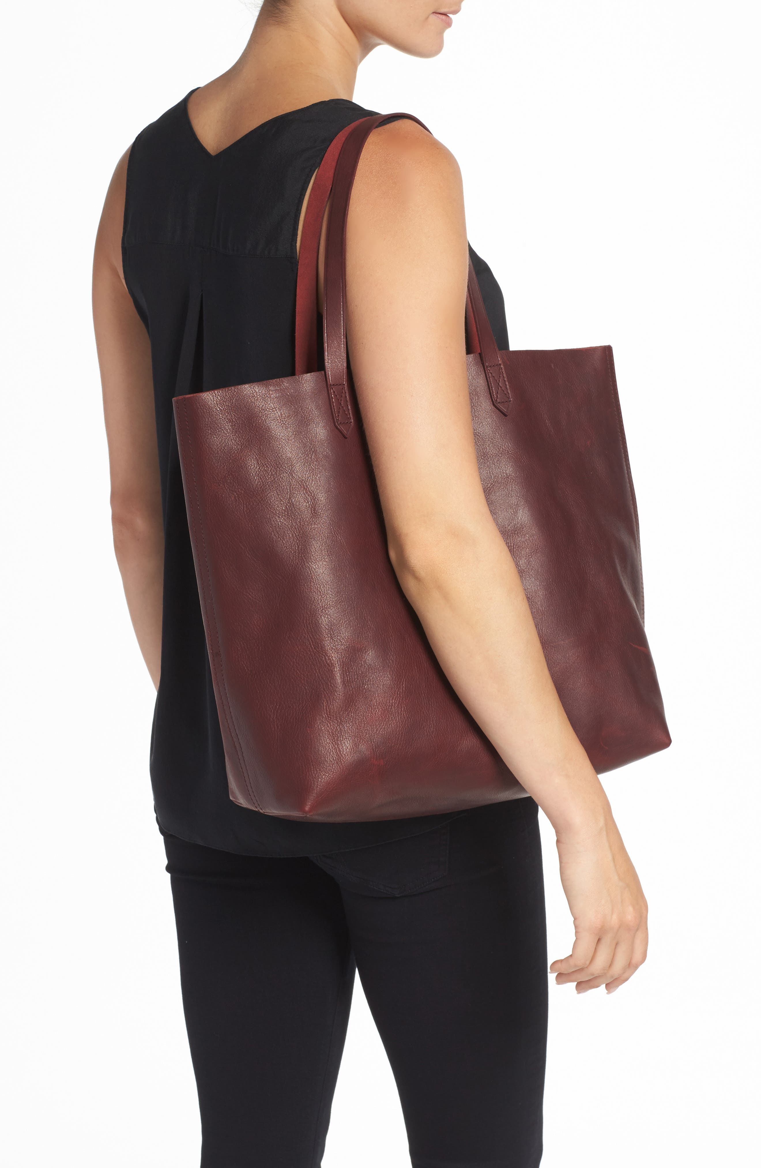 Transport Leather Tote,                             Alternate thumbnail 2, color,                             Dark Cocoa