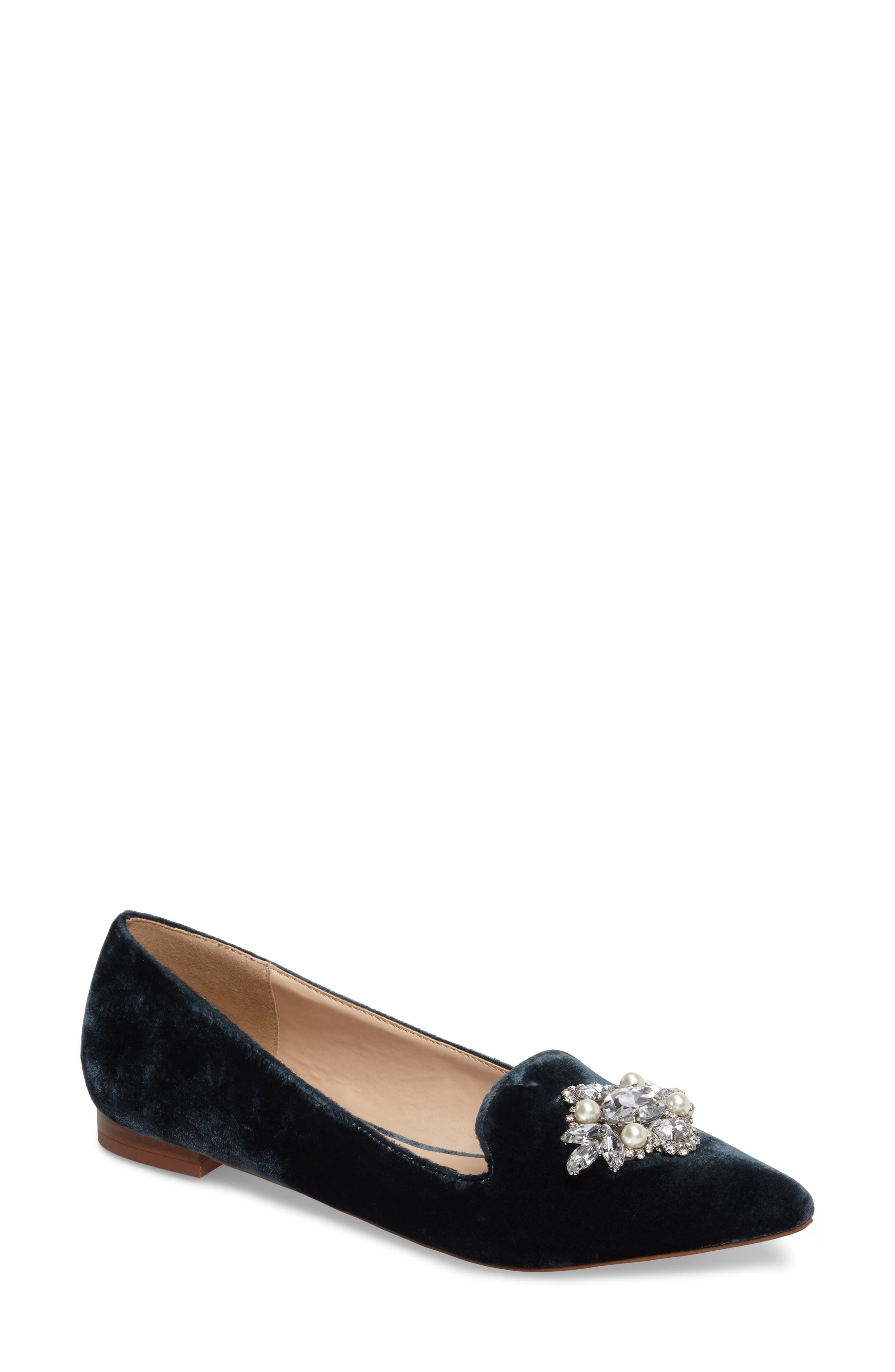 Sole Society Libry Crystal Embellished Flat (Women)