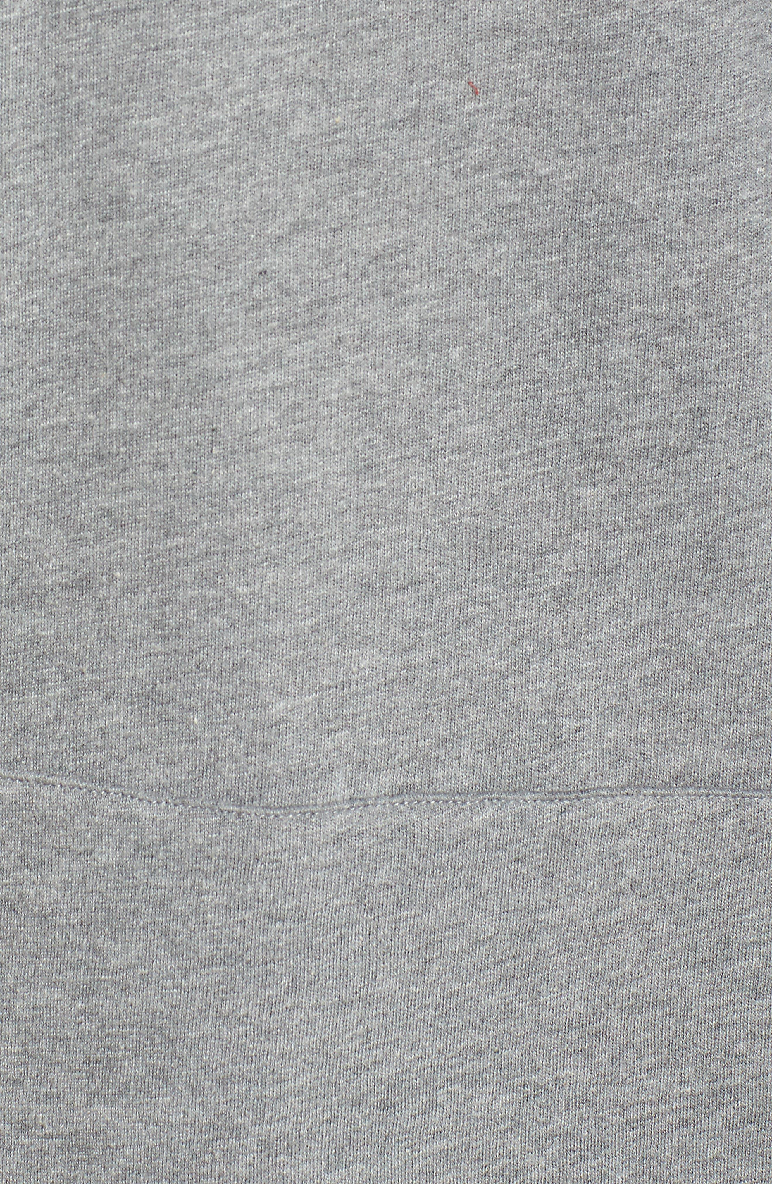 Blonde Sweatshirt Dress,                             Alternate thumbnail 5, color,                             Heather Grey White
