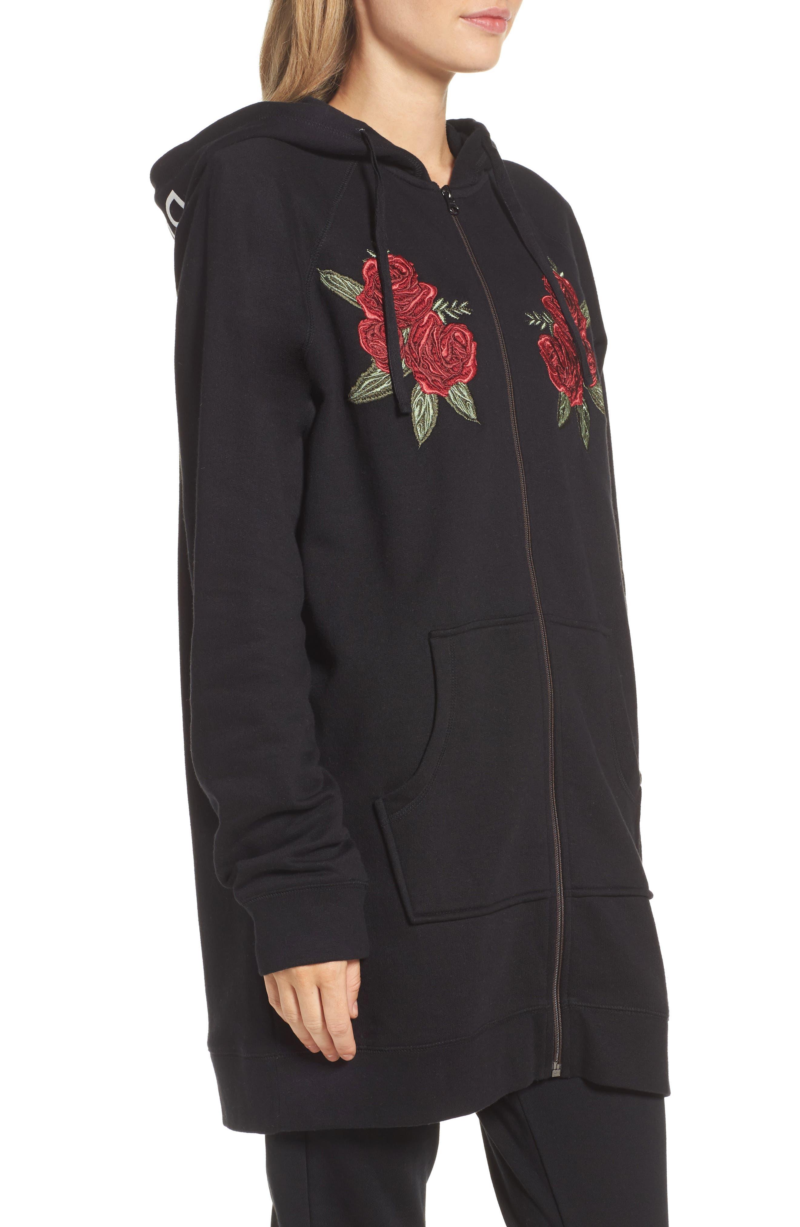 Alternate Image 3  - BRUNETTE the Label Blonde Embroidered Zip Hoodie