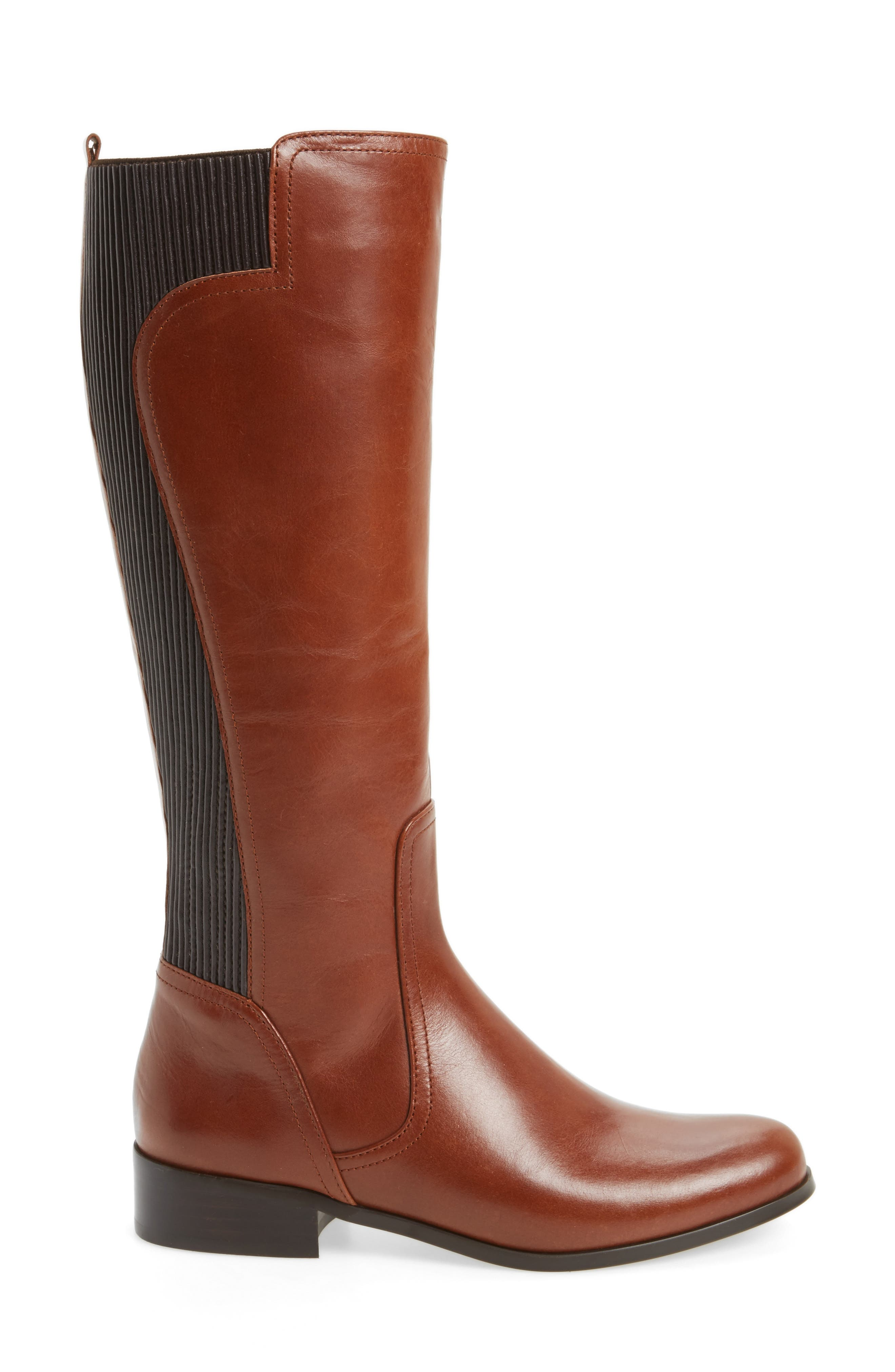 Rebel Tall Boot,                             Alternate thumbnail 3, color,                             Tan Leather