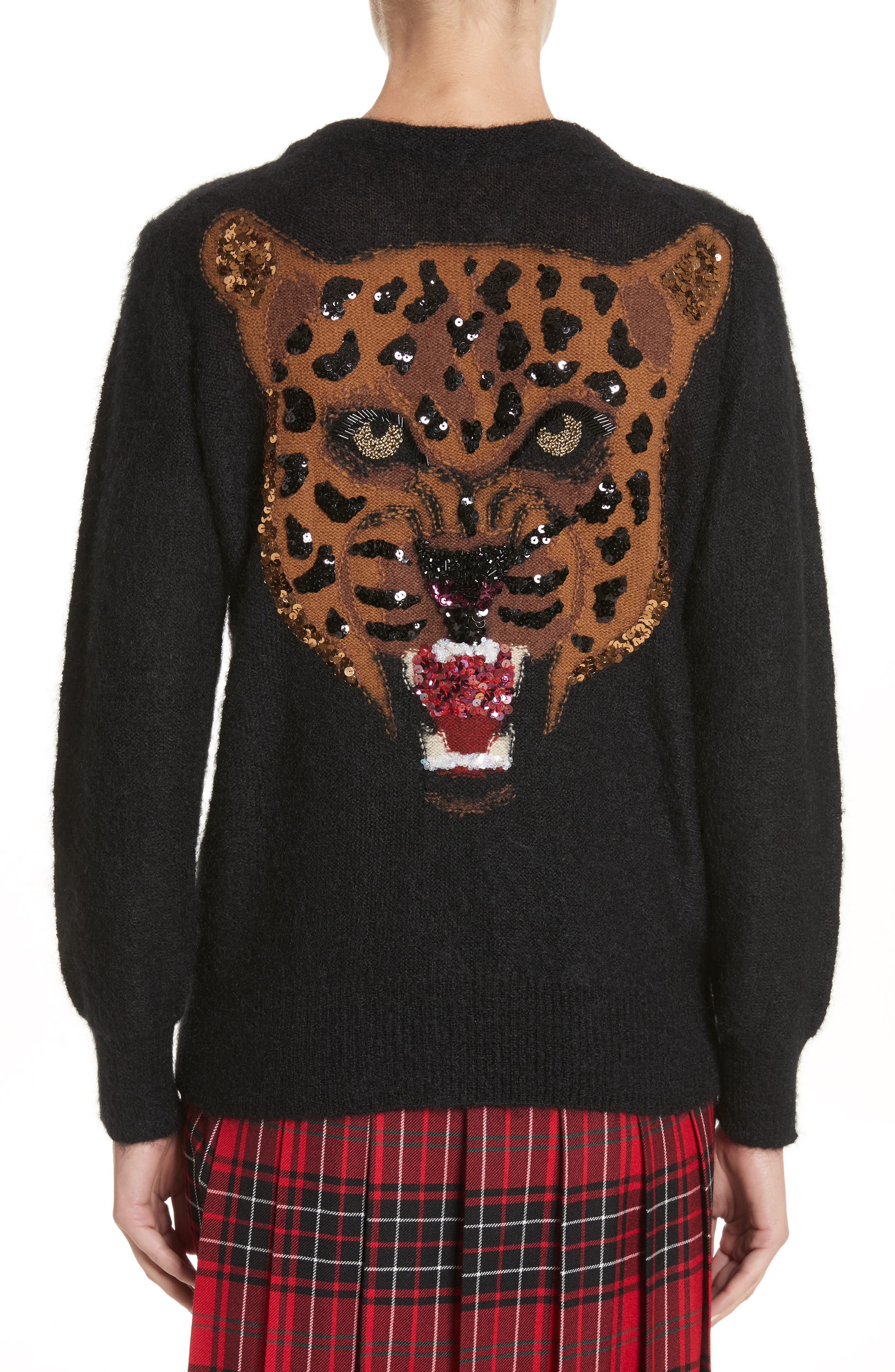 Alternate Image 2  - Junya Watanabe Sequin Cheetah Button Cardigan