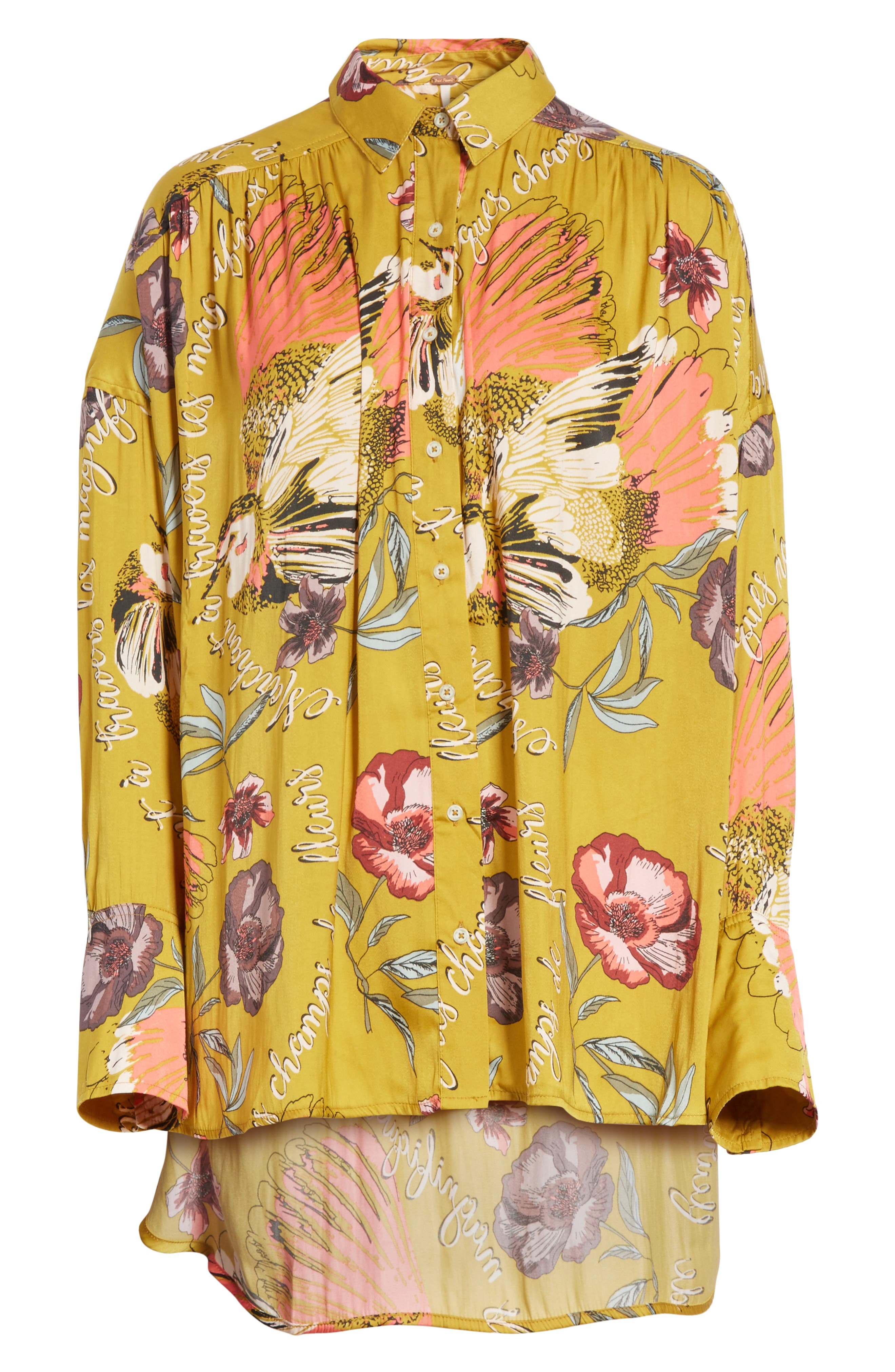 Silky Nights Blouse,                             Alternate thumbnail 6, color,                             Gold