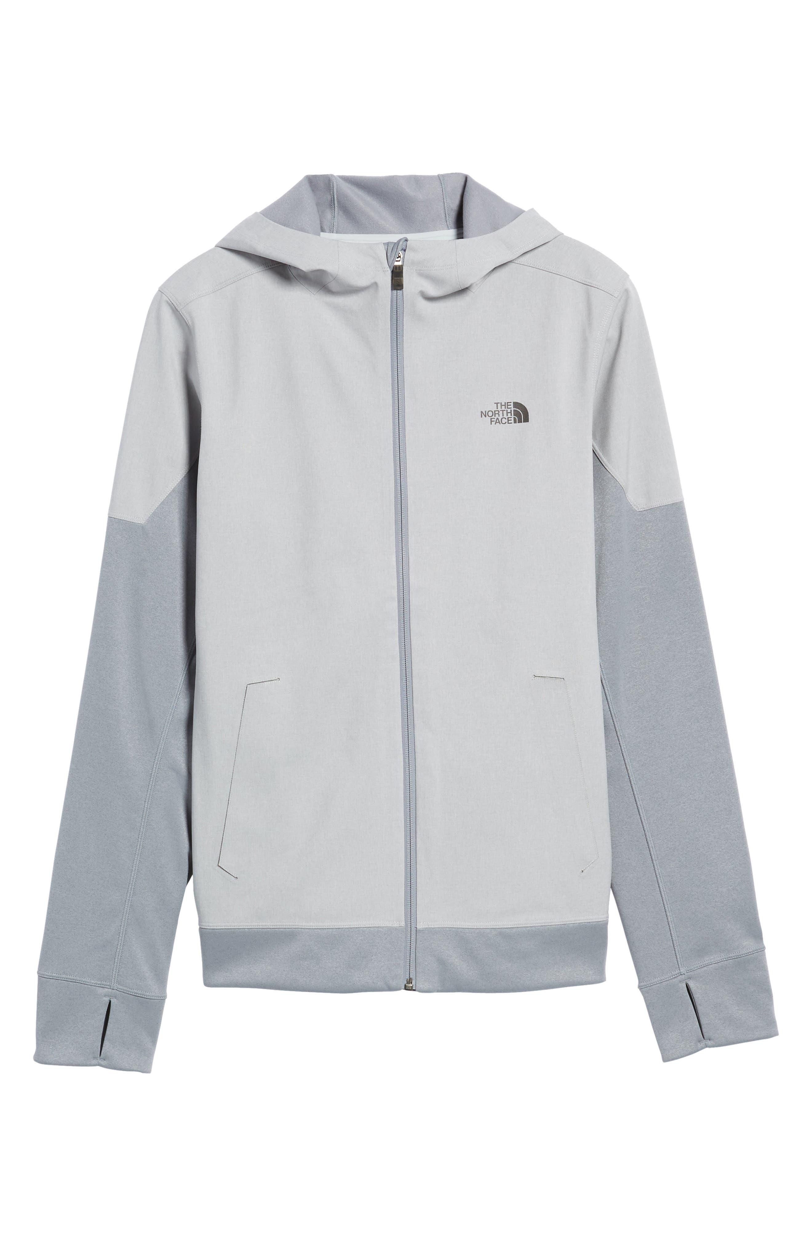 'Kilowatt' Hooded Jacket,                         Main,                         color, Tnf Light Grey Heather