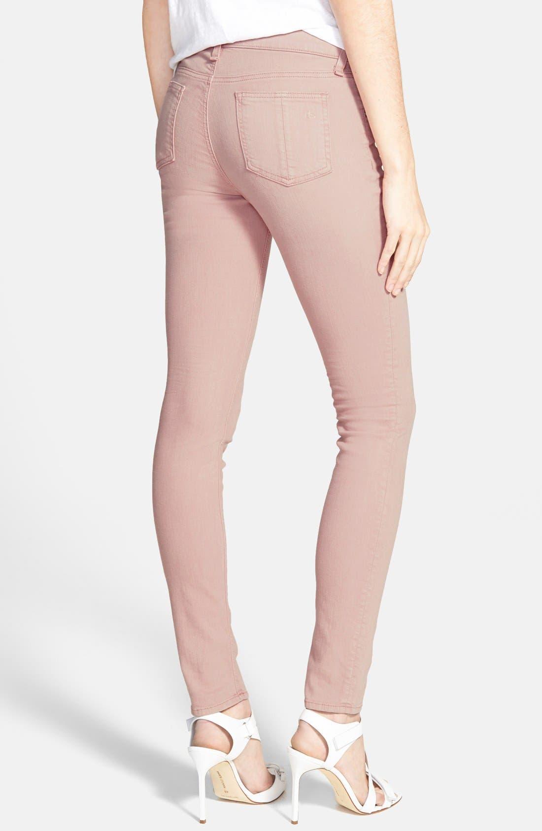 Alternate Image 2  - rag & bone/JEAN 'The Skinny' Stretch Skinny Jeans (Rose)